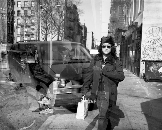 Woman and Van