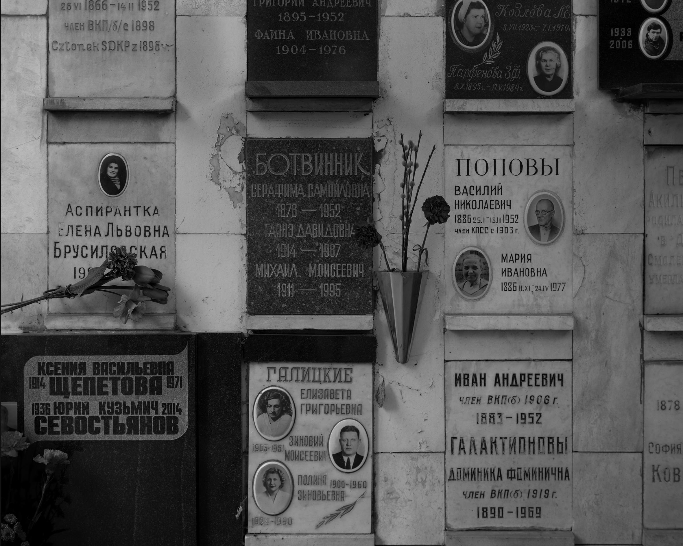 Mikhail Botvinniks grav, Moskva.jpg