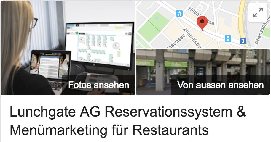 Google Eintrag Lunchgate