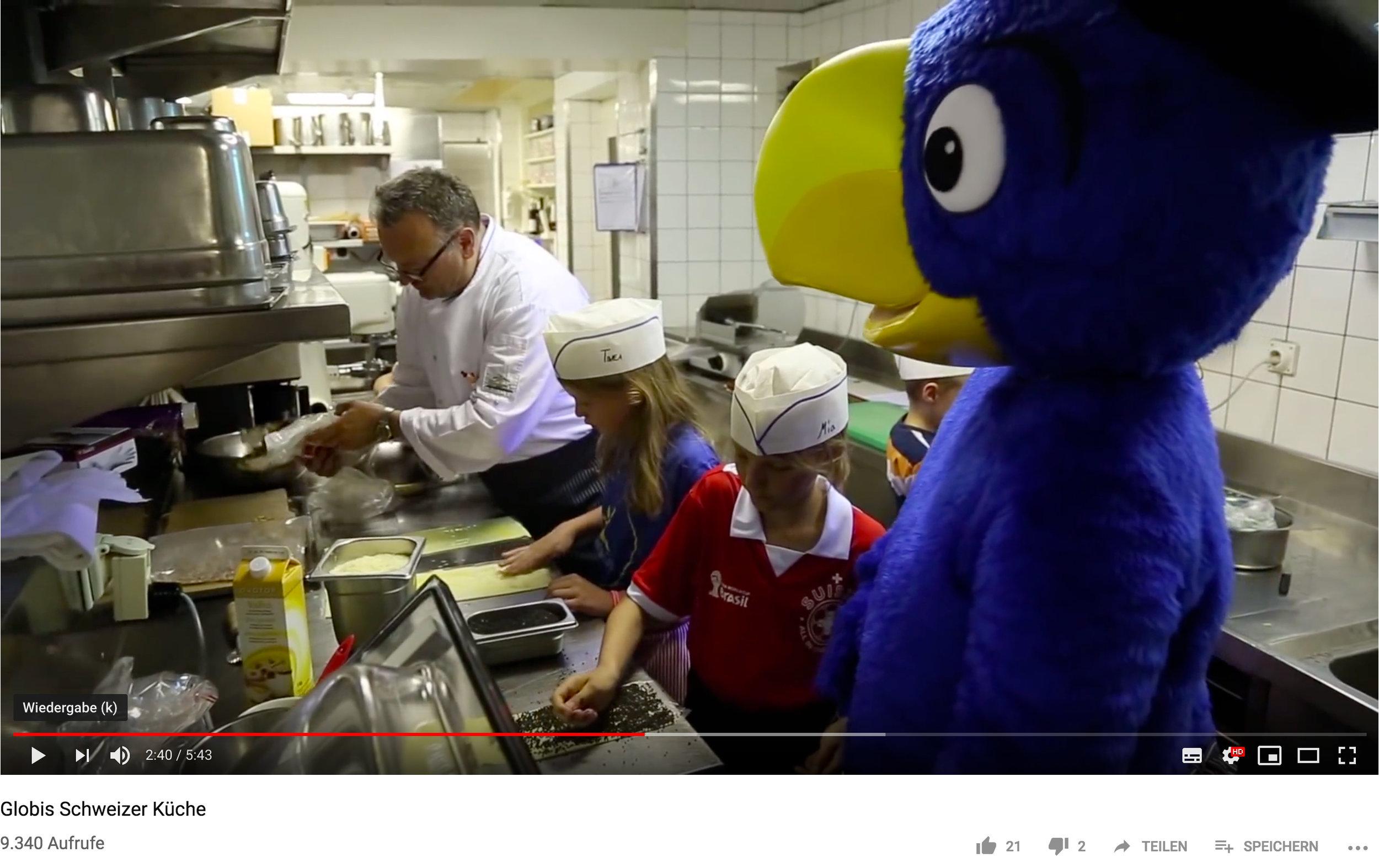 Video für Globis Schweizer Küche
