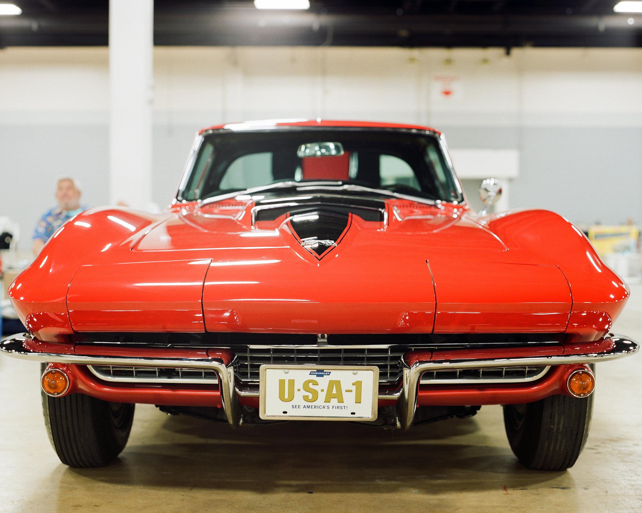 Red with Black Stinger 1967 Big Block Corvette