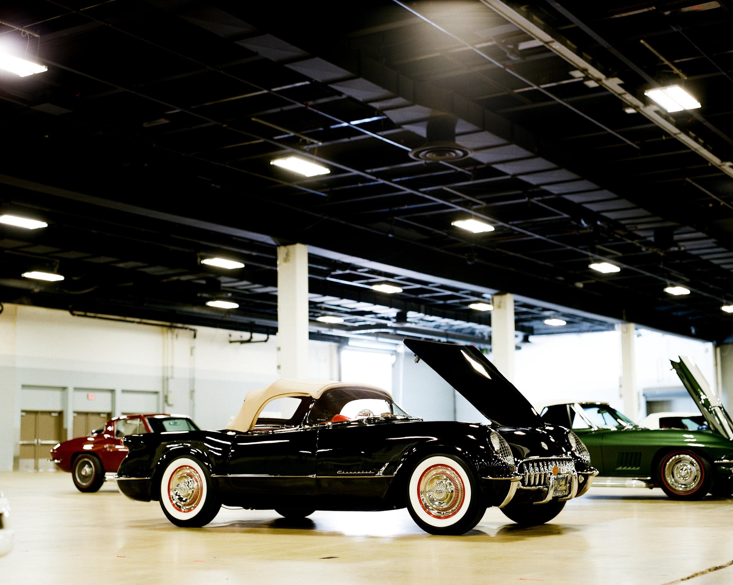 Black 1954 Corvette on Film