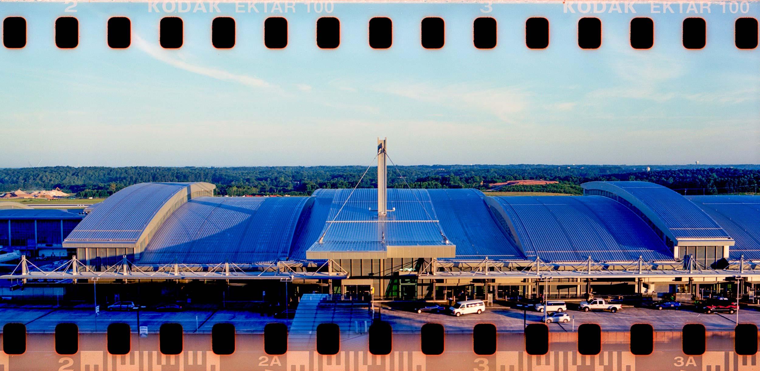 RDU Terminal 2 Pentax 67 panorama