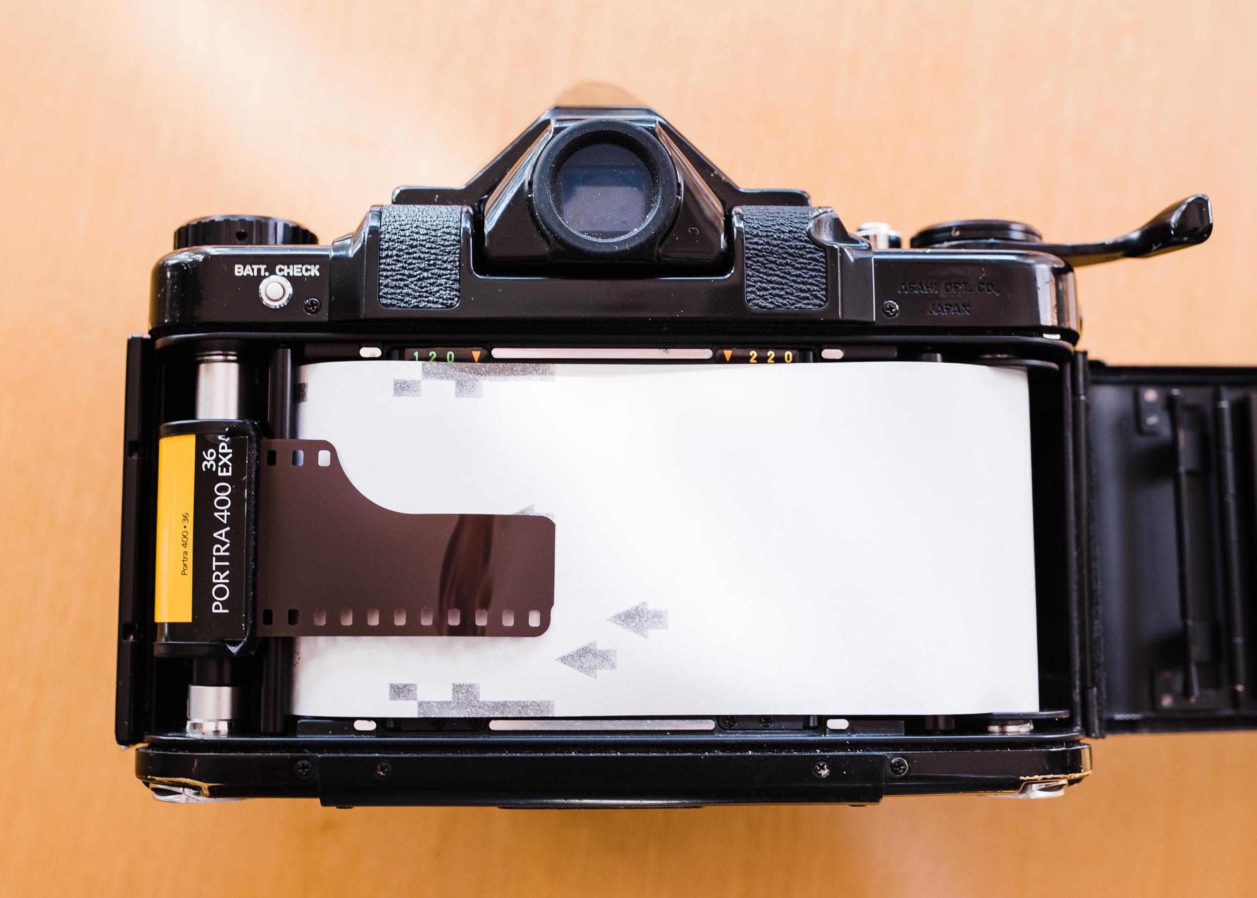 Pentax 67 35mm panorama step 2