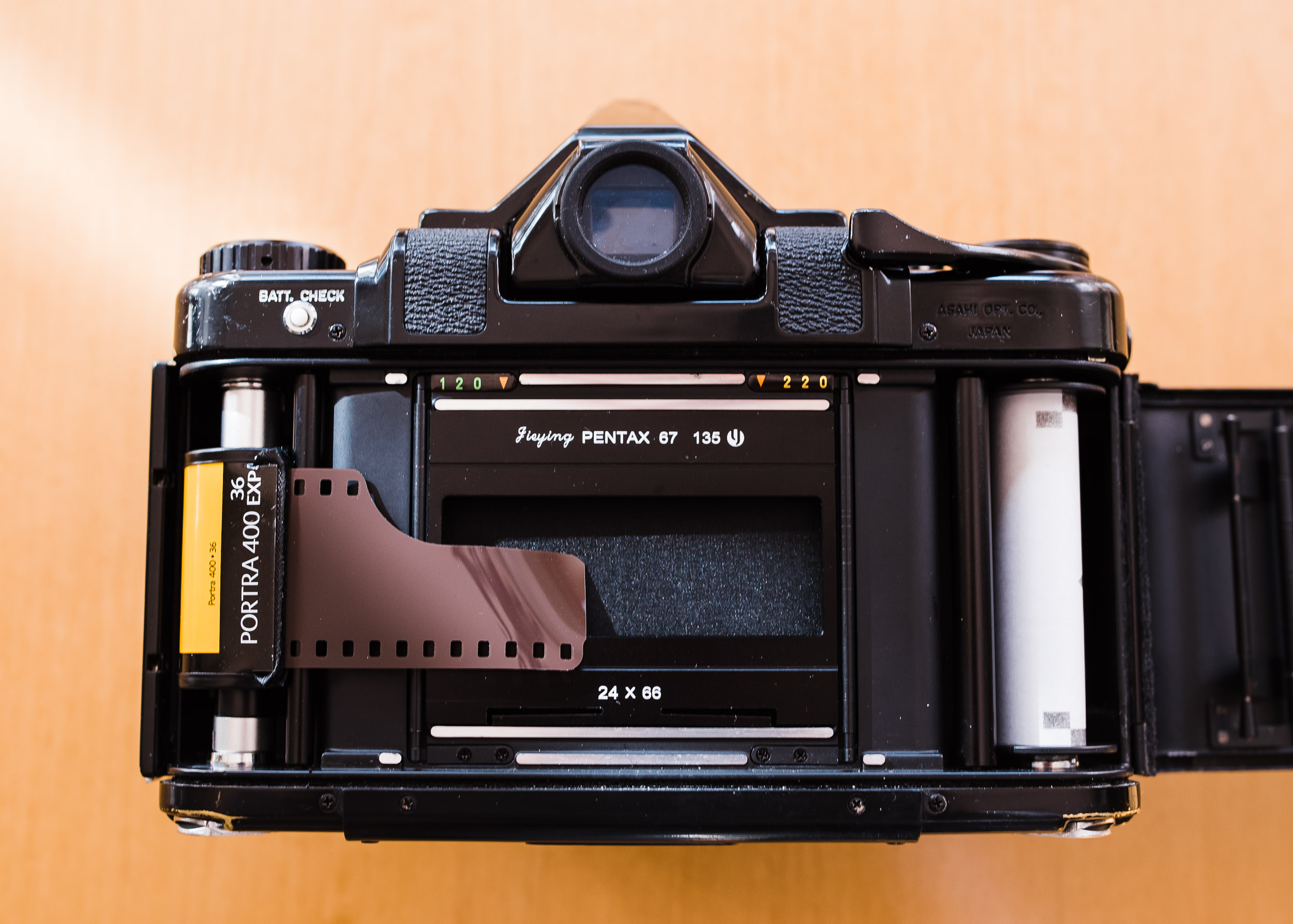 Pentax 67 35mm panorama step 1