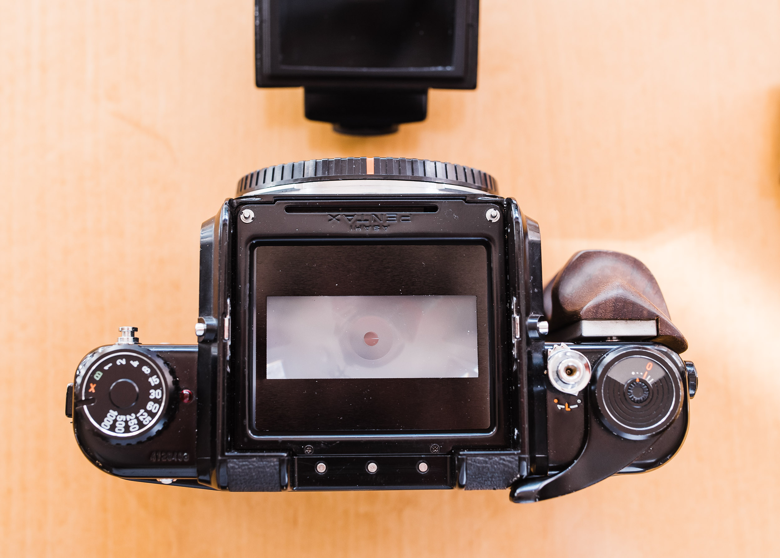 Pentax 67 focus screen with 35mm mask