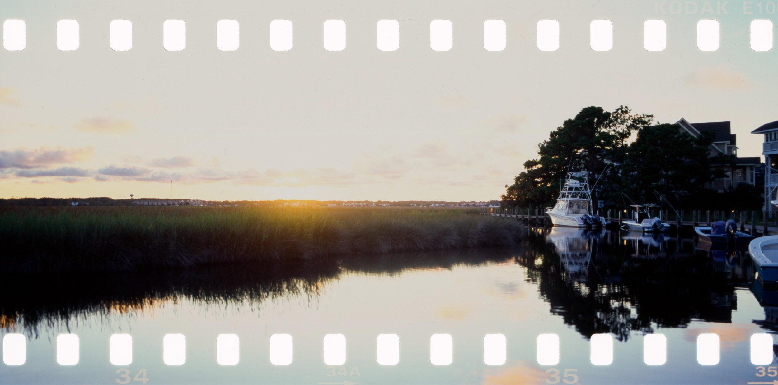 Boat Sunset Pentax 67 35mm Panorama
