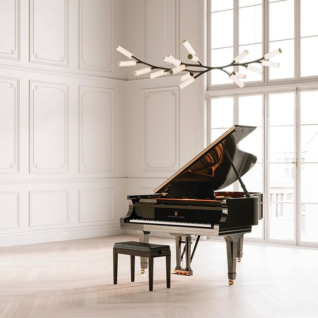 Great to see our client @camerondesignhouse showcasing their exclusive collaboration with world renowned @steinwayandsons last night. Unveiled as part of @l_d_f_official, the limited edition Steinway Haara chandelier looks perfectly at home in @steinwayhalluk Marylebone.