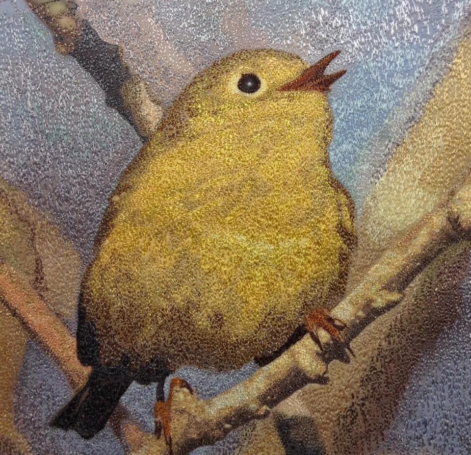 Little Yellow Bird, from a photo by Lorra Rudman. Sold