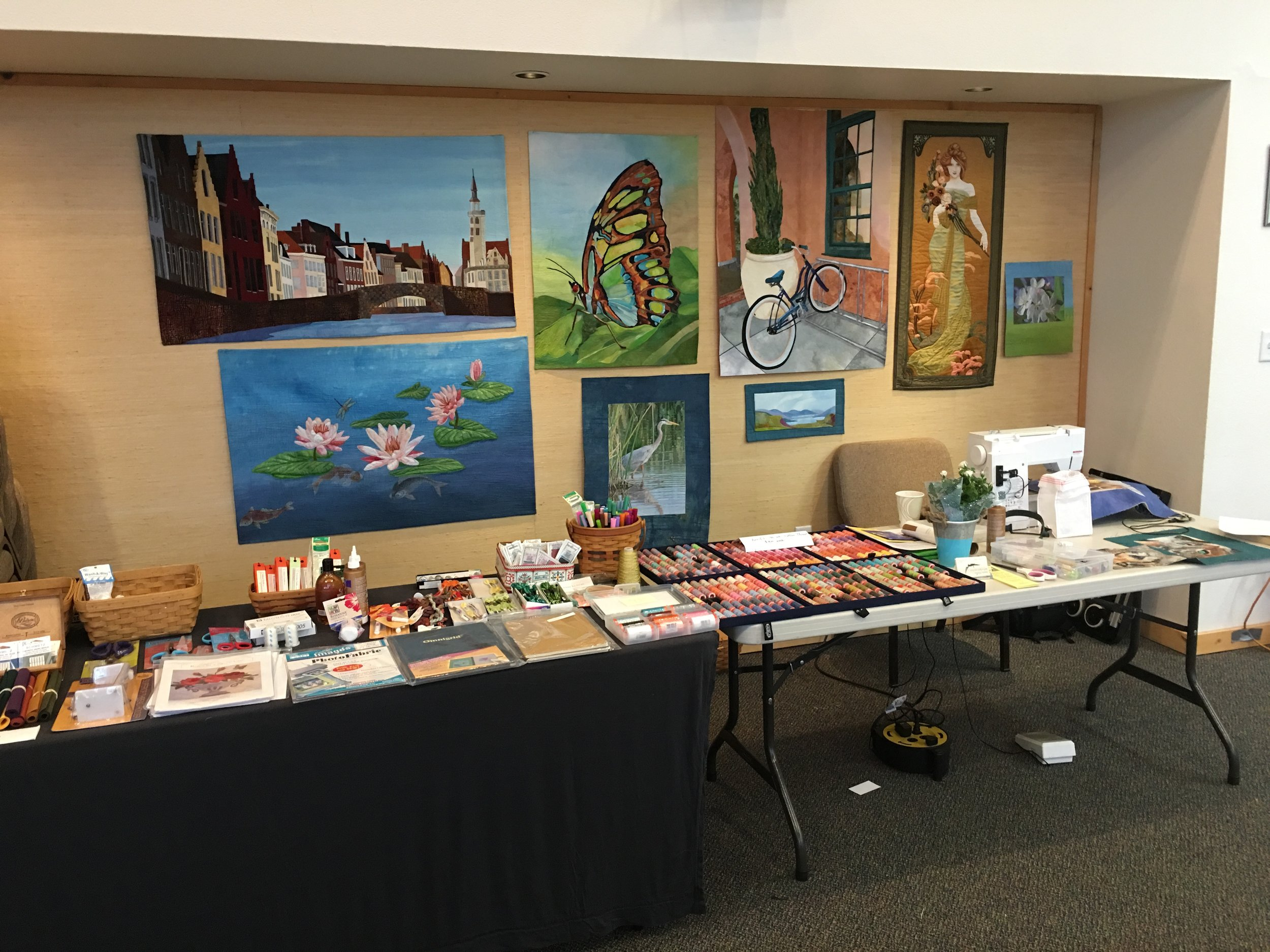 Some of my work, and some supplies for sale.
