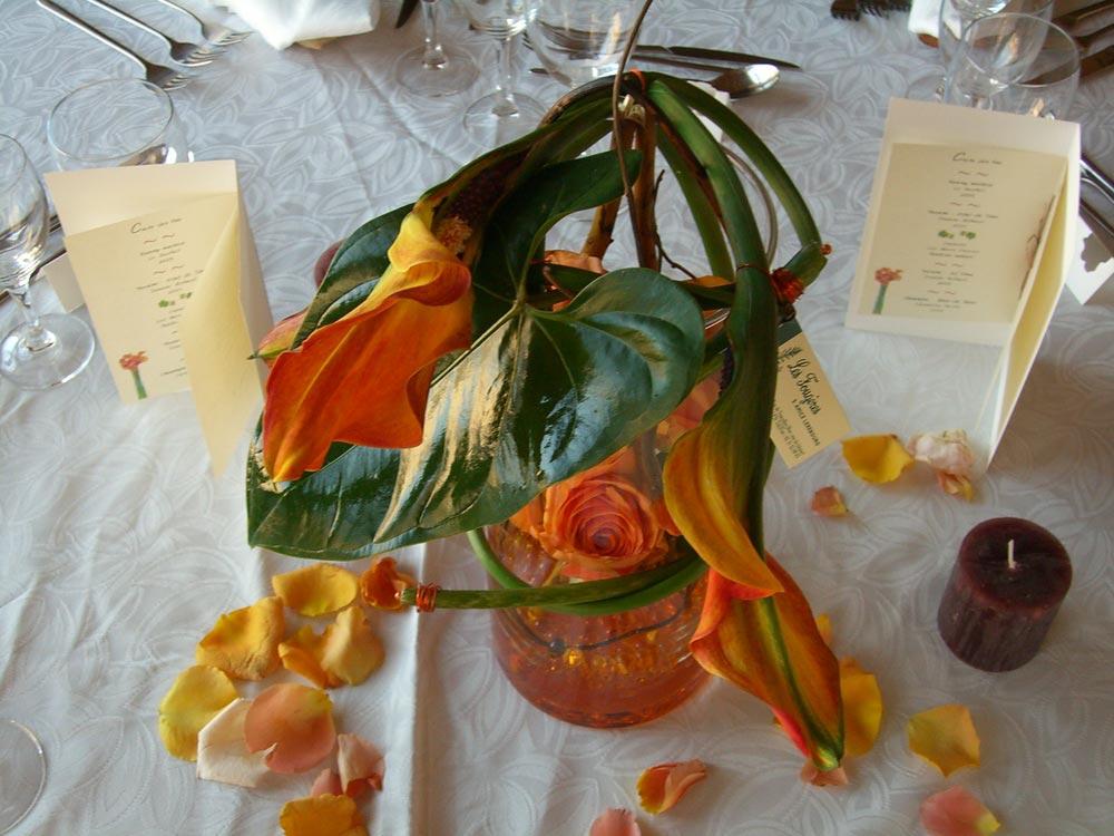 Décoration de table pour un mariage - Domaine de la Tour