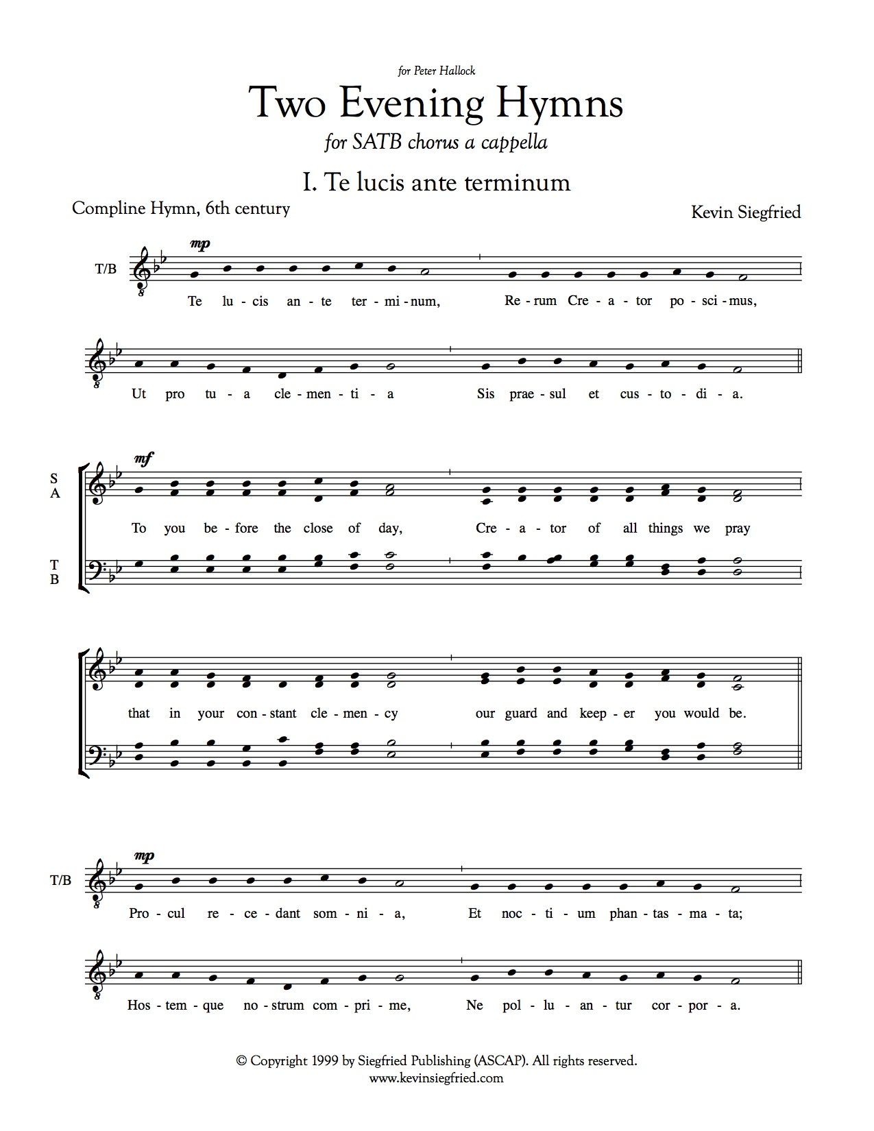 Two Evening Hymns