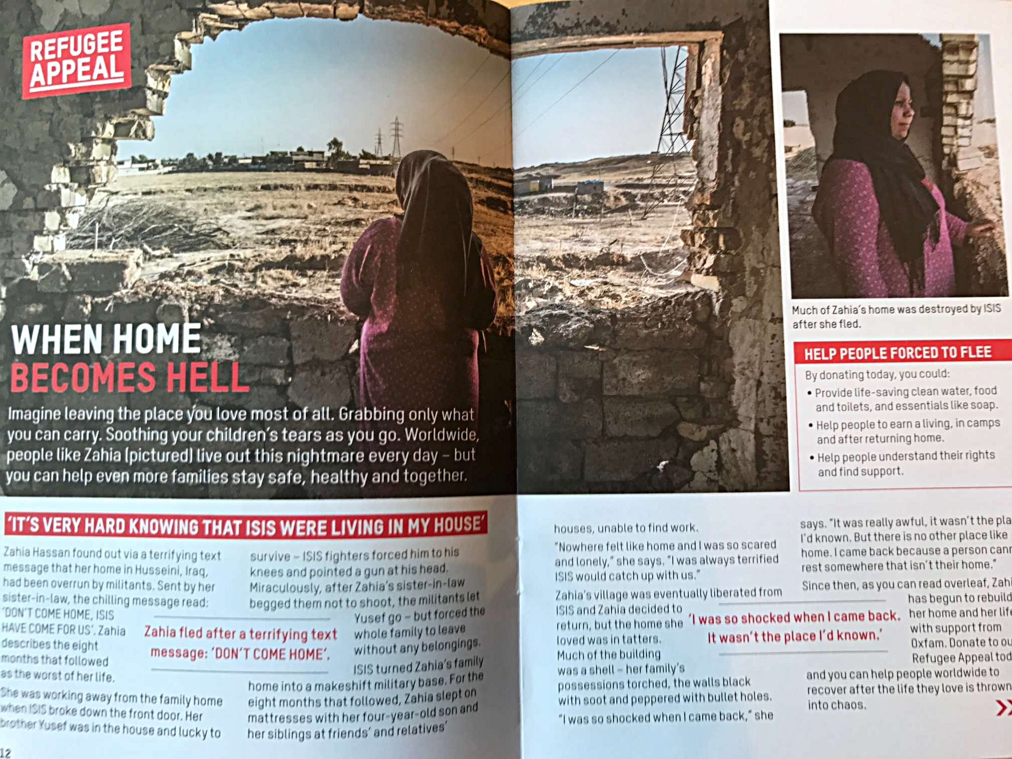 A cash appeal from Autumn 2016, focused on the experiences of people fleeing in Iraq.