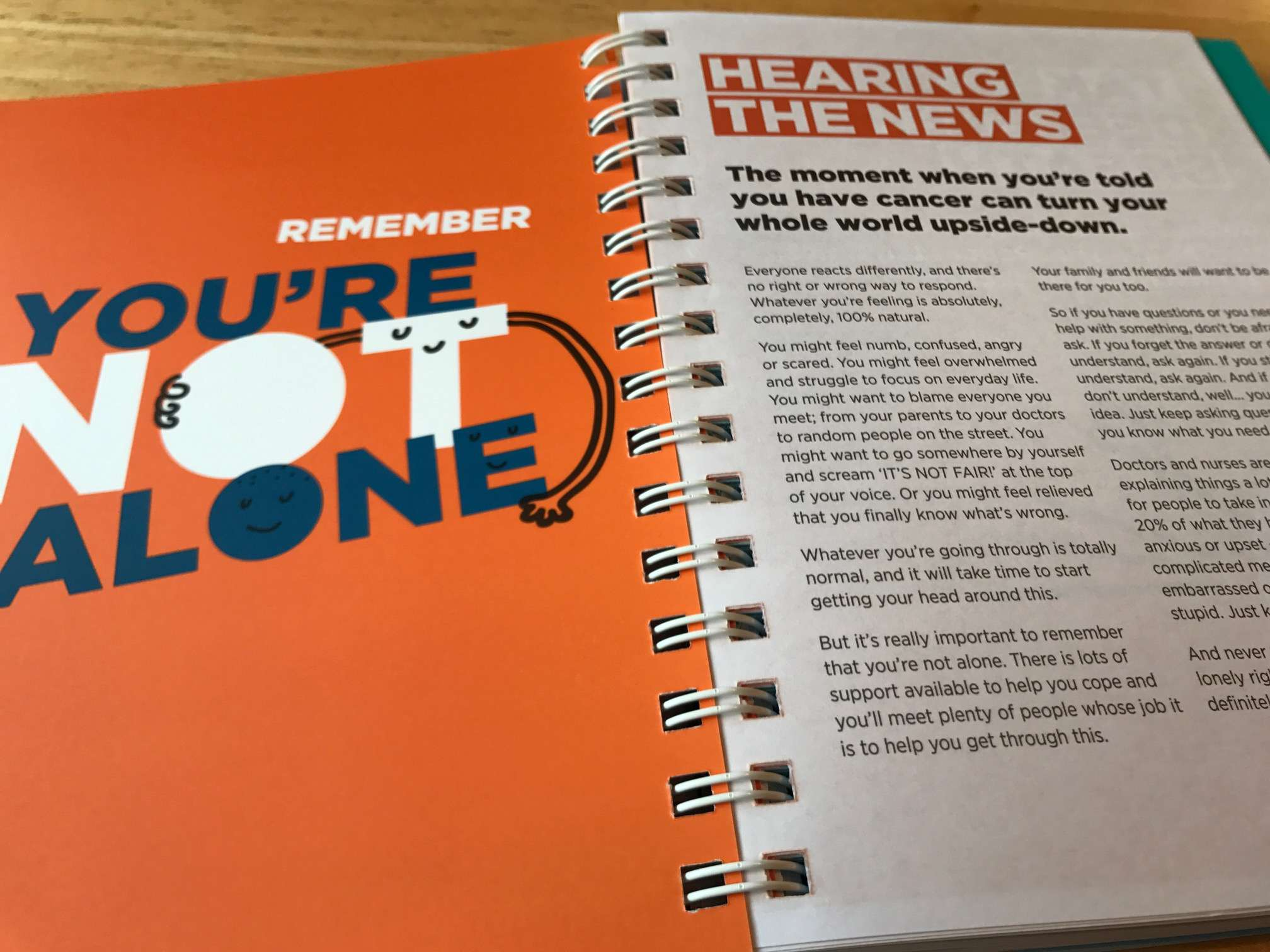 The tone of the Teenage Cancer Trust handbook was tested on young people.
