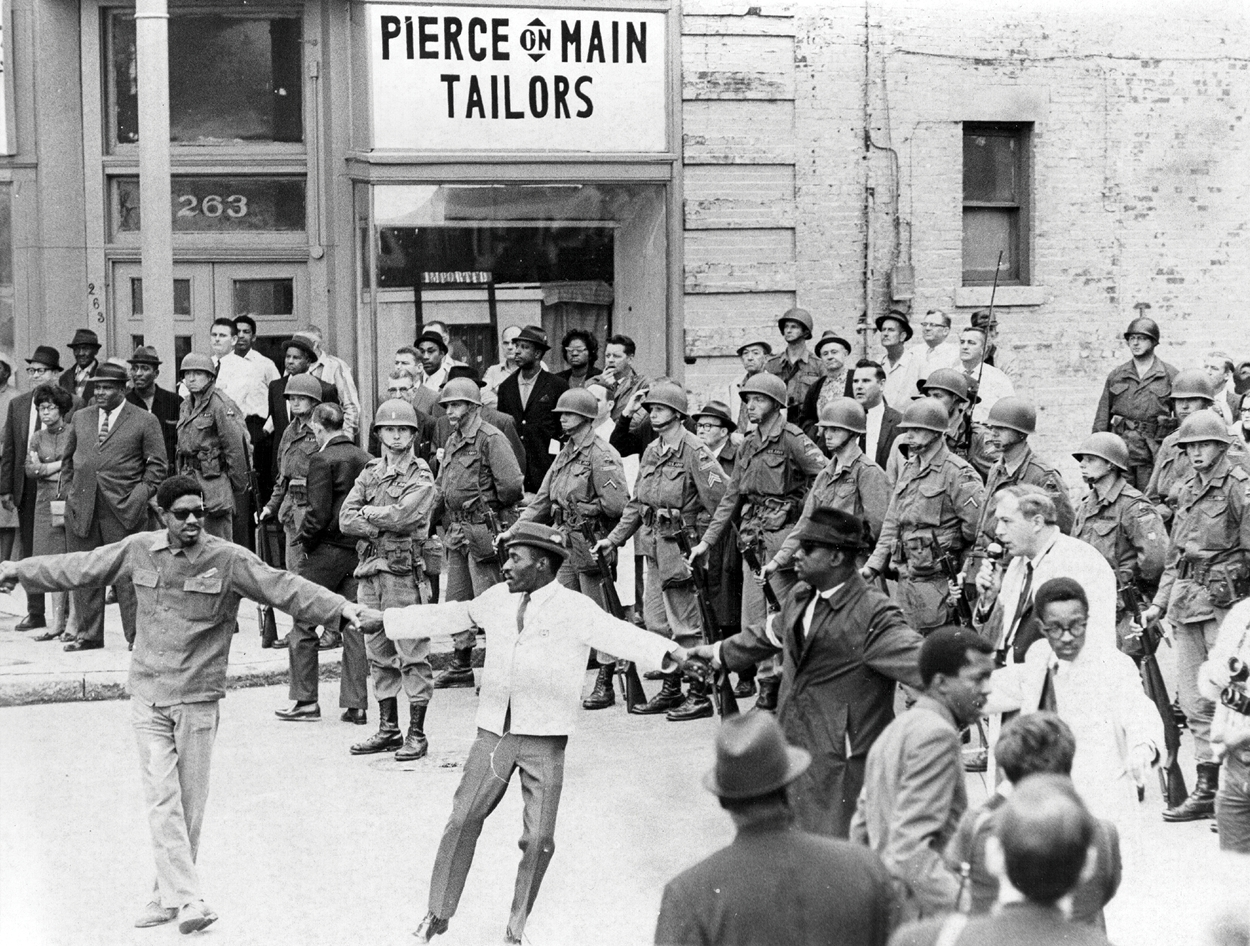 A non-violent demonstration in 1968 on the side of my grandfather's tailor shop
