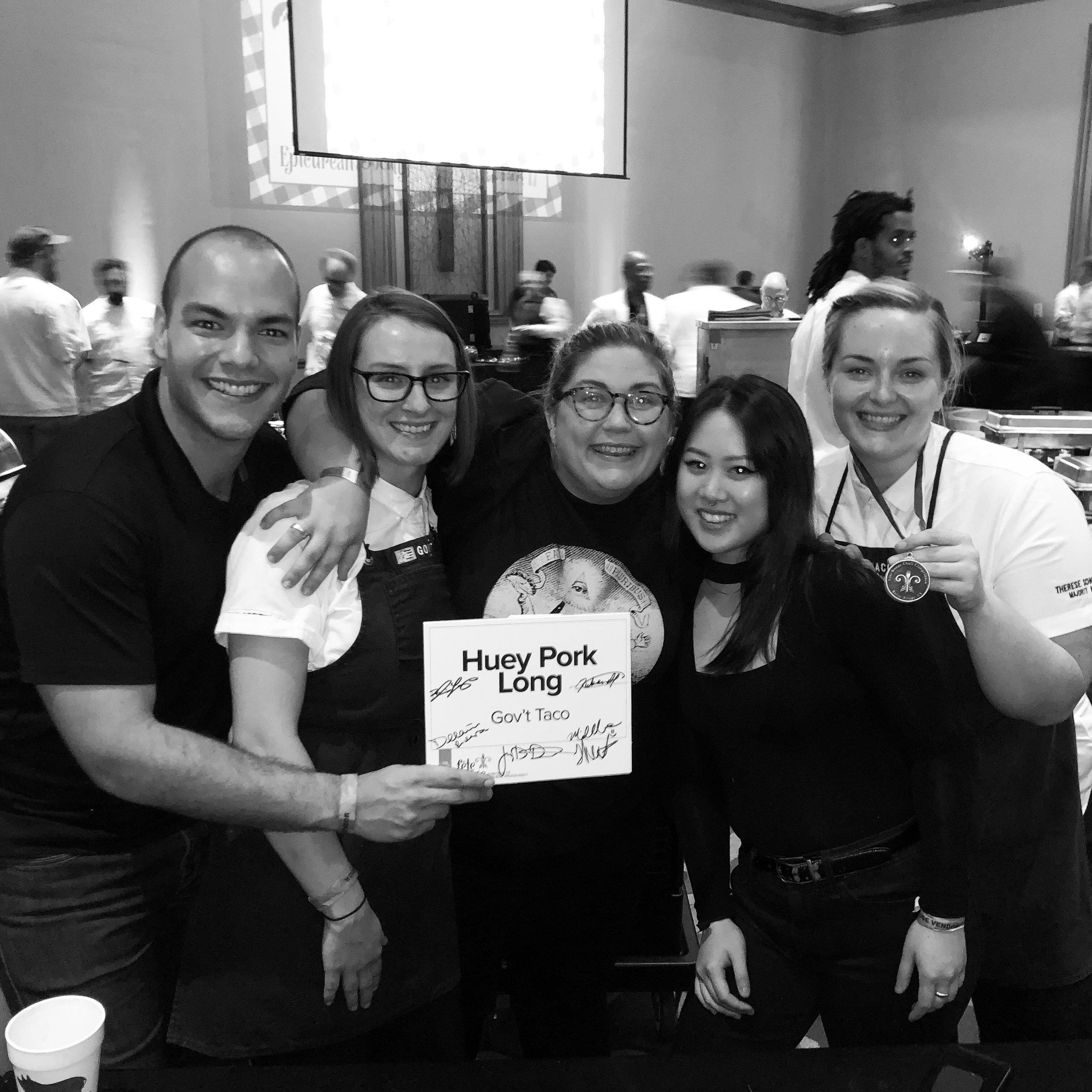 Gov't Taco's Ruben Albornoz, Delainie Riera, Blair Loup, Michelle Huynh and Therese Albornoz celebrate with their Bronze Medal!
