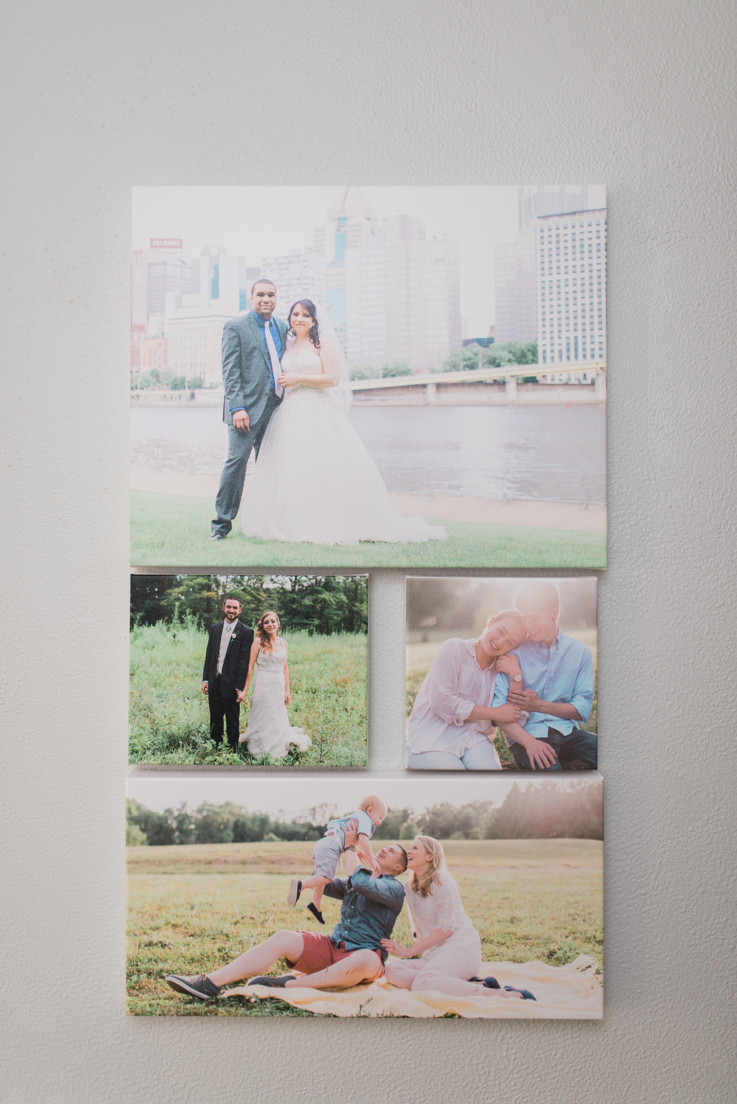 Pittsburgh Wedding Photographer - Fine Art Canvas Prints - Gallery Display