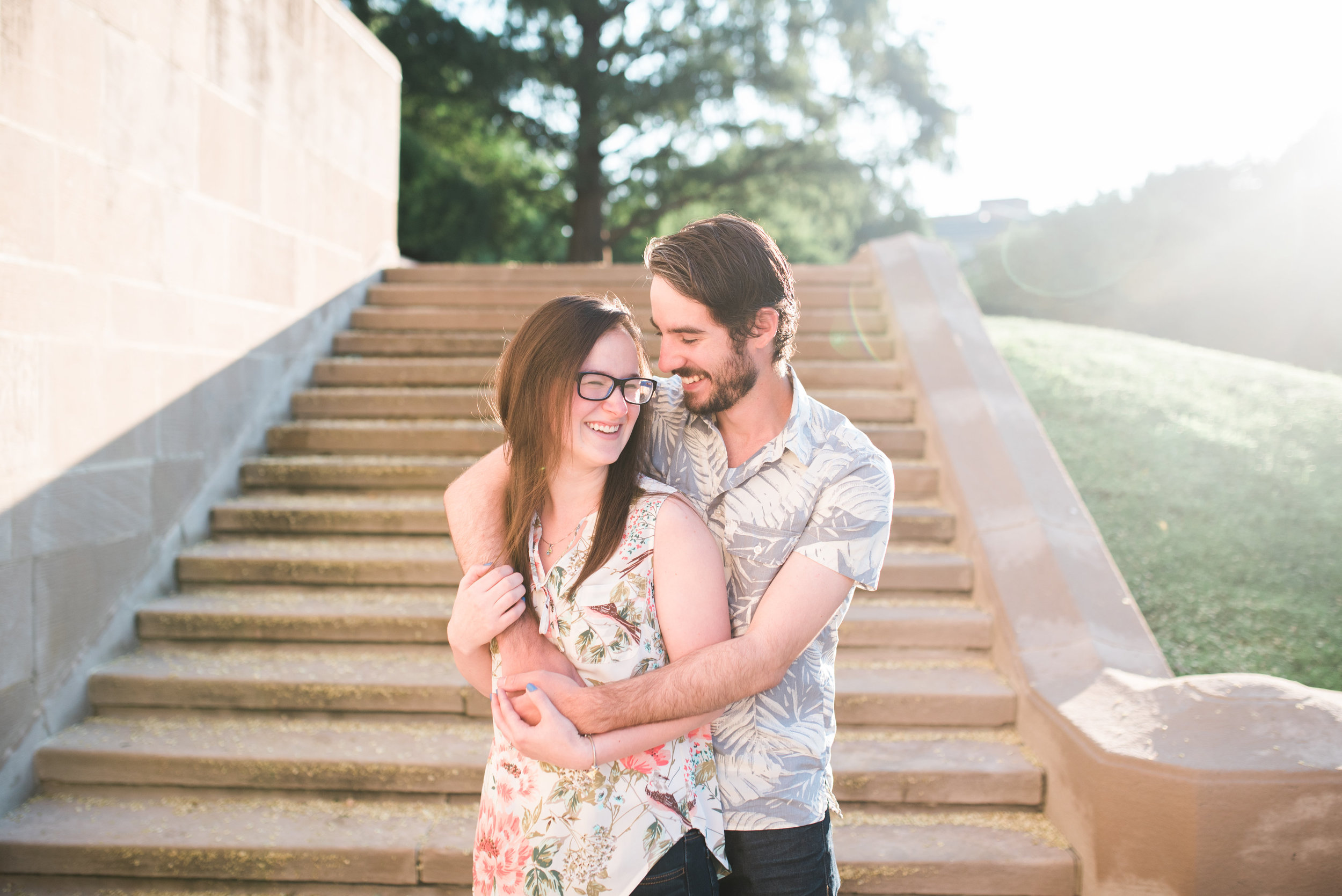 Pittsburgh wedding photographers engagement session oakland