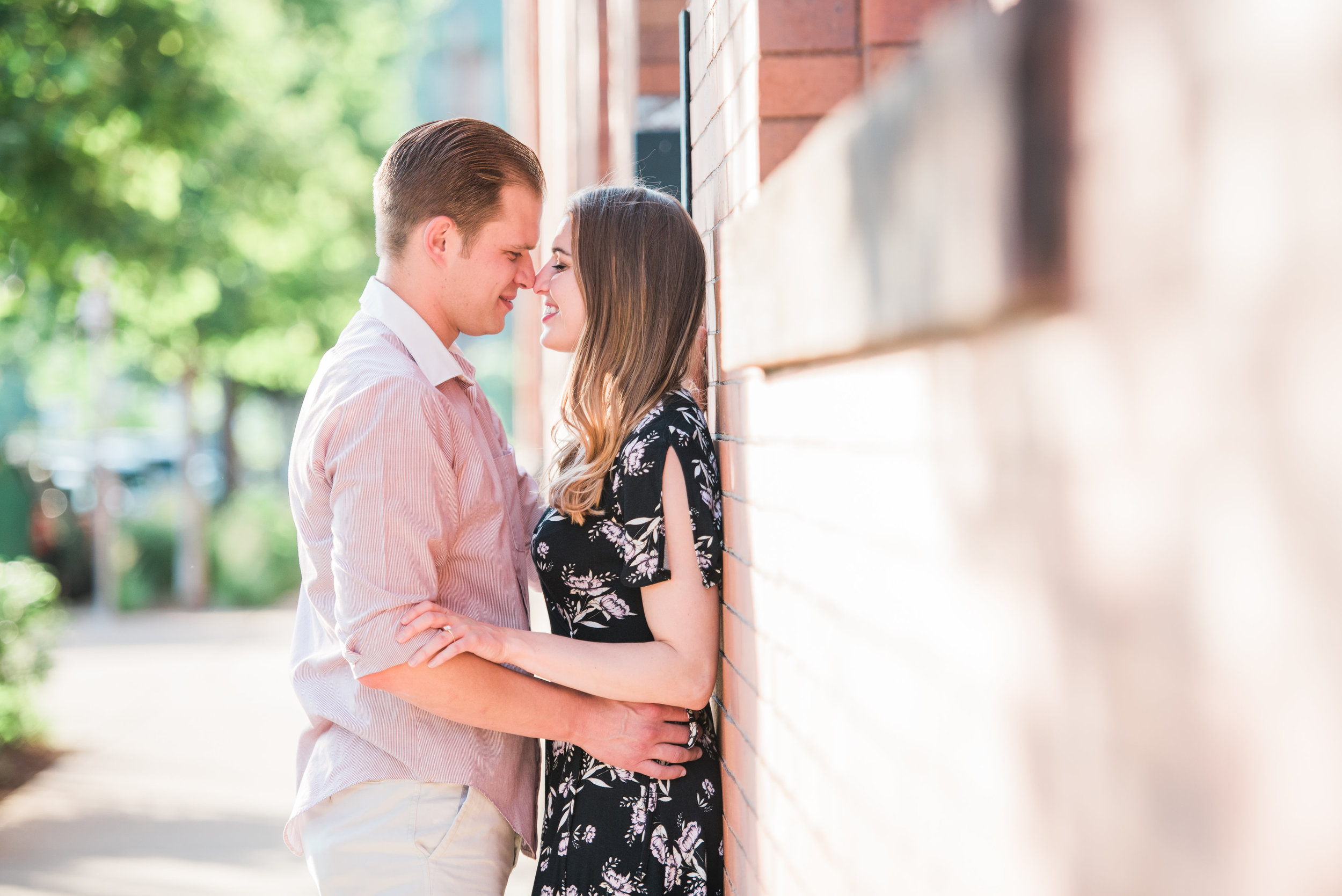 Pittsburgh wedding photographers engagement session strip district