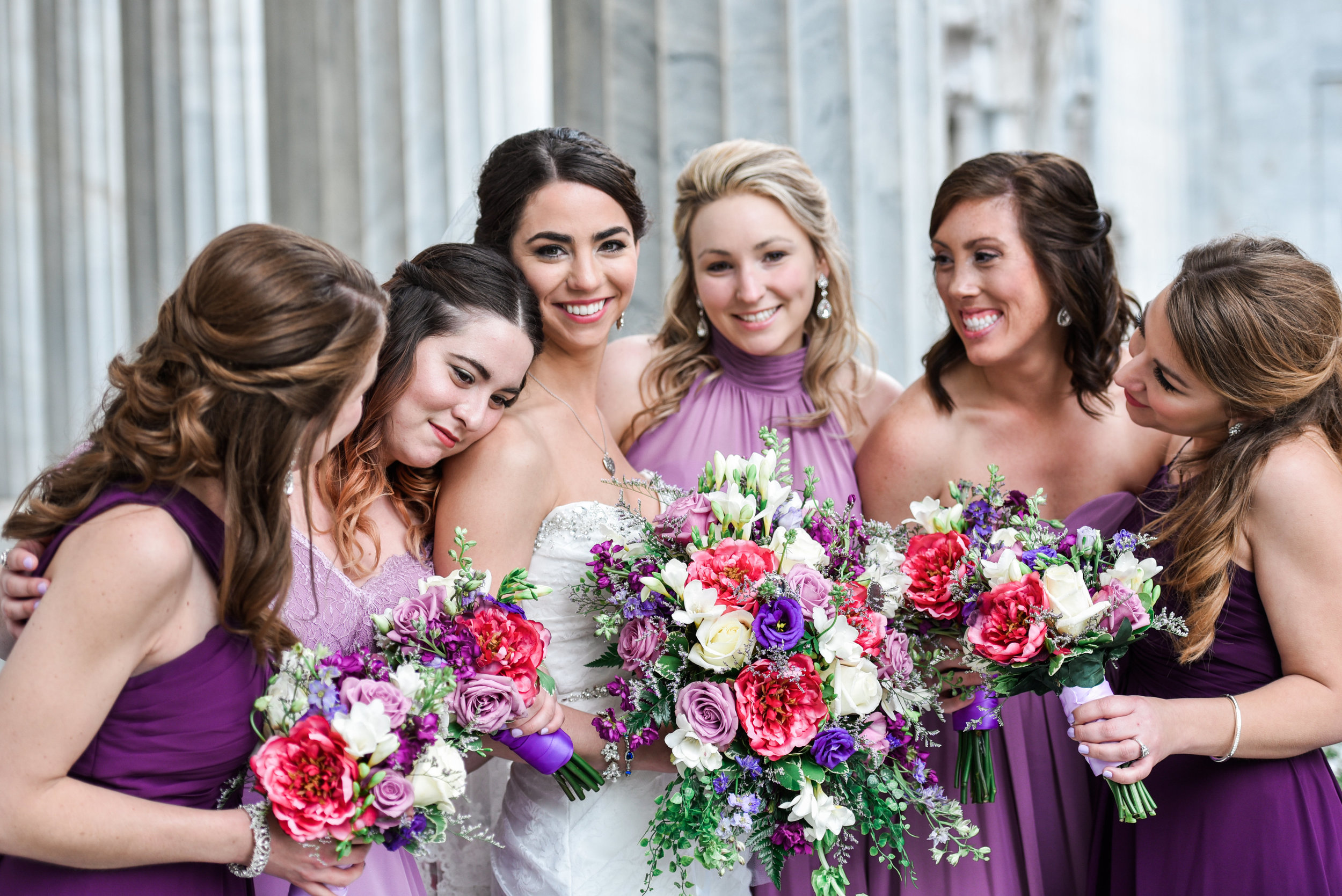 Pittsburgh wedding photographer bridal party photo