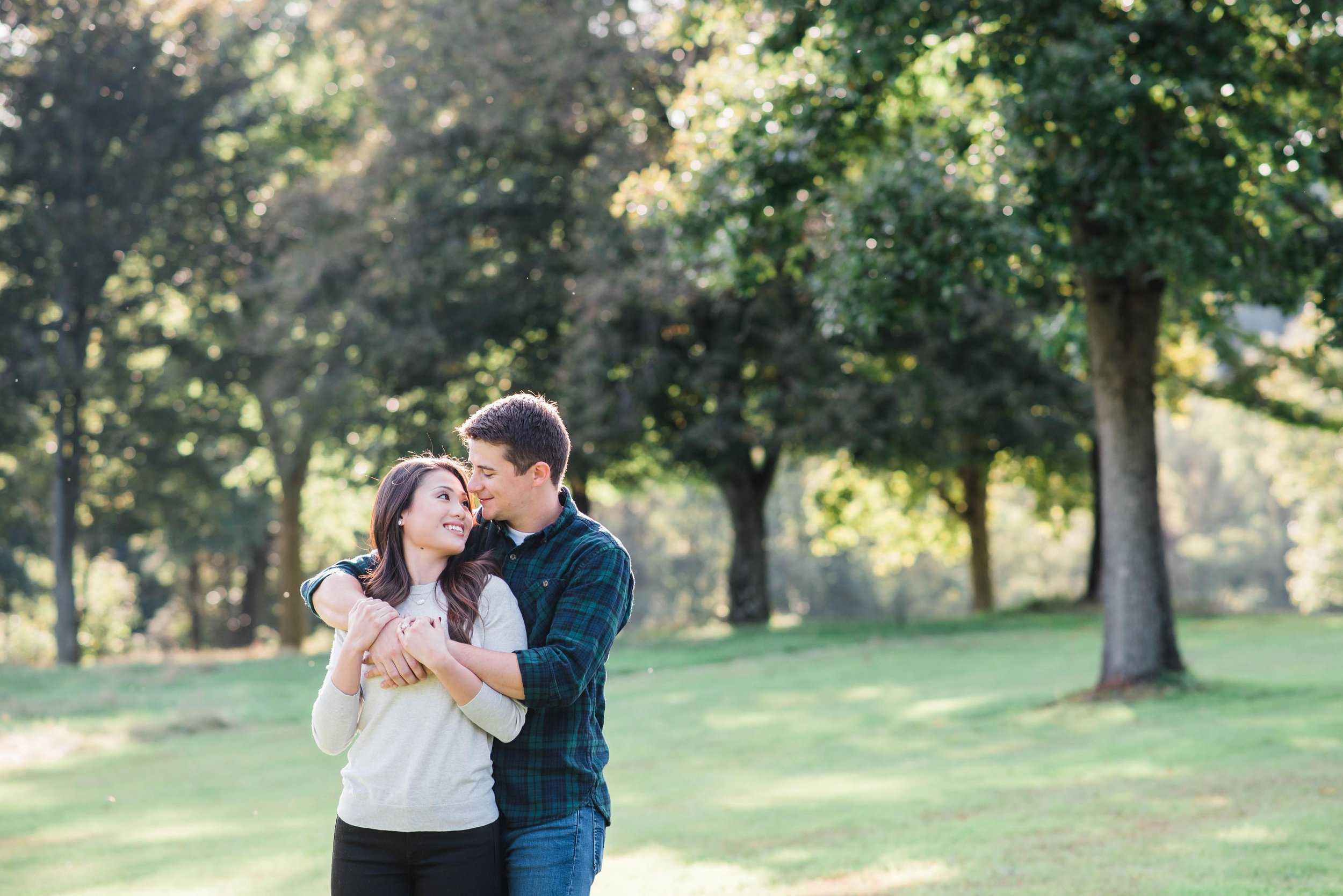 Pittsburgh Golf Course Engagement Photographer