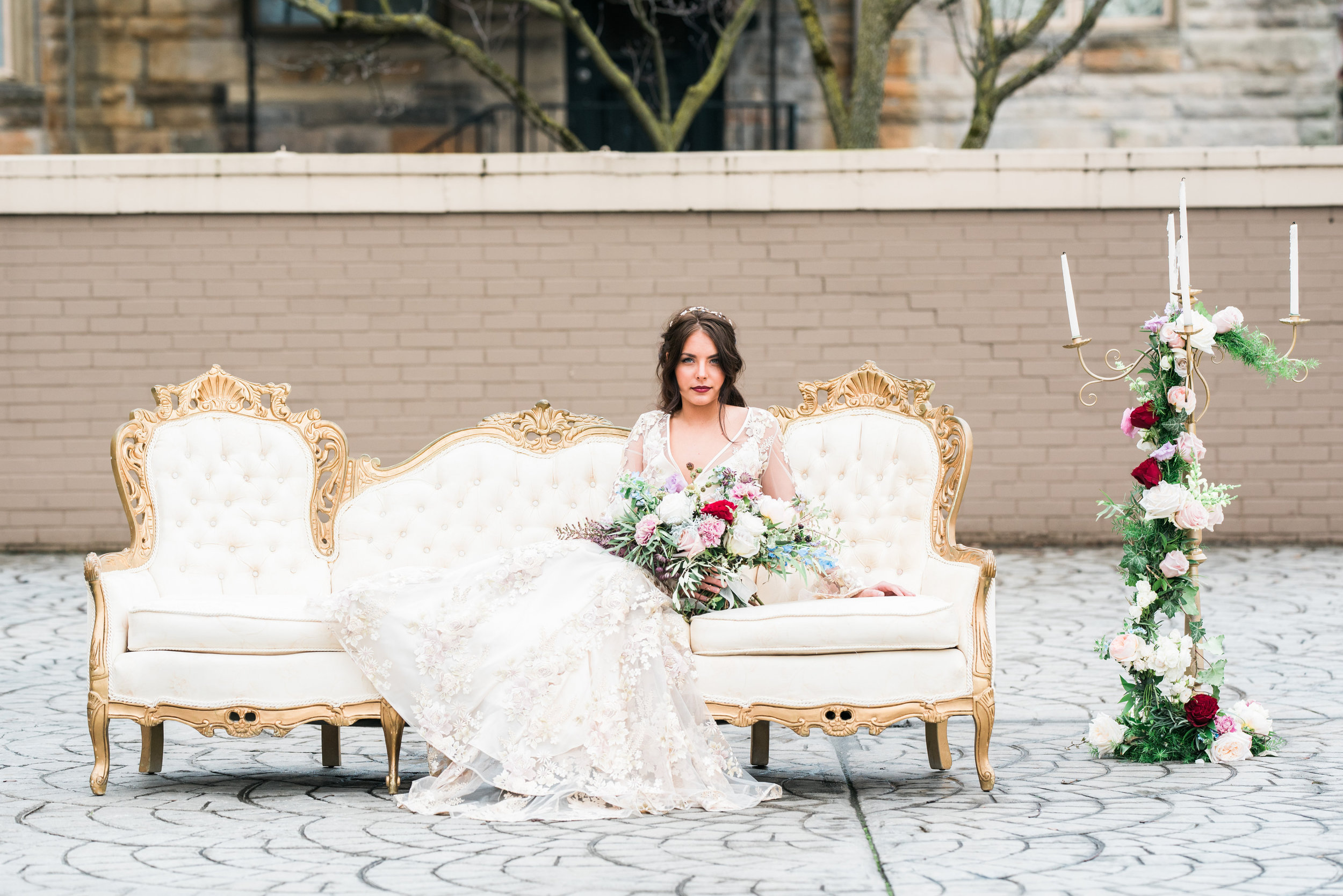 Beauty and the Beast Styled wedding photo shoot