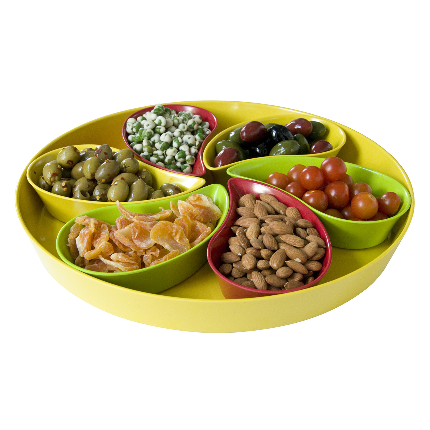 yumi-476-nature-natural-bamboo-serving-tray-with-6-teardrop-dishes with food.jpg