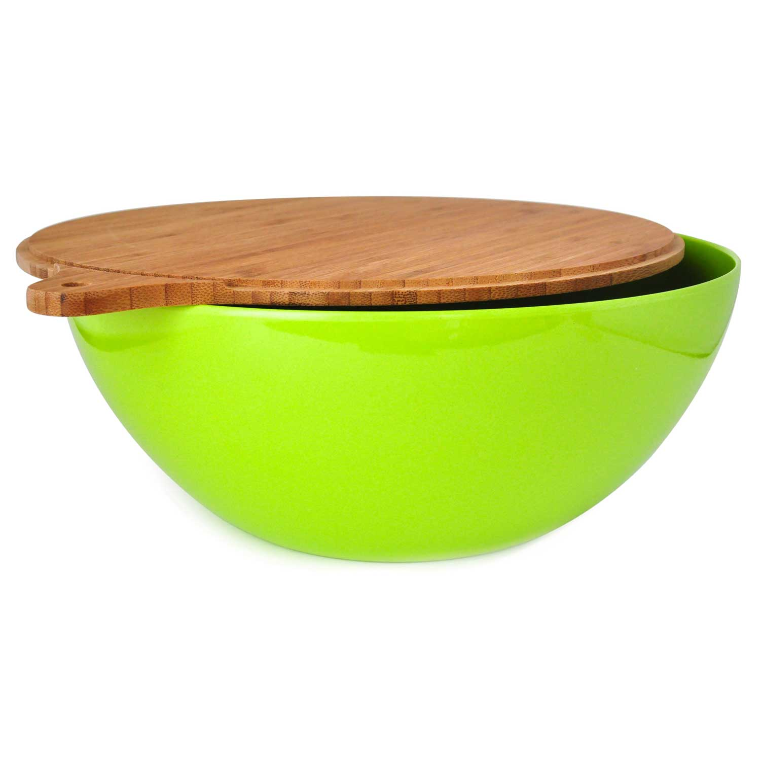 Natural Bamboo Salad Bowl with Cover