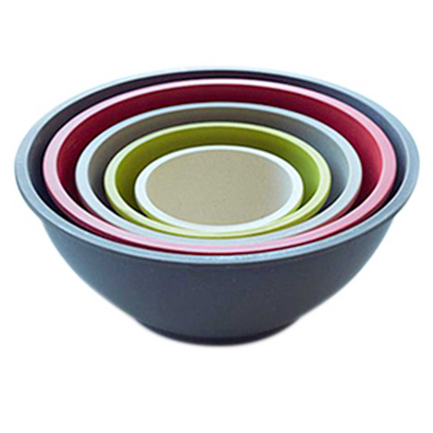 5 Piece Earth Tones Bowl Set