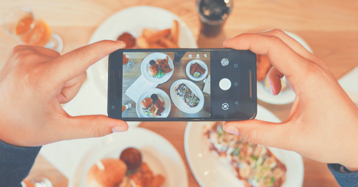 phone and food