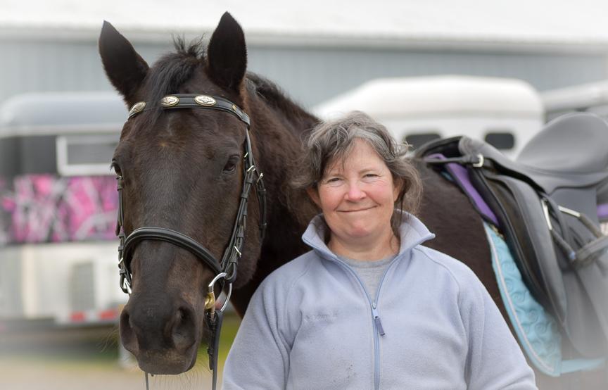 Ann D. and her Quarter Horse, Pai