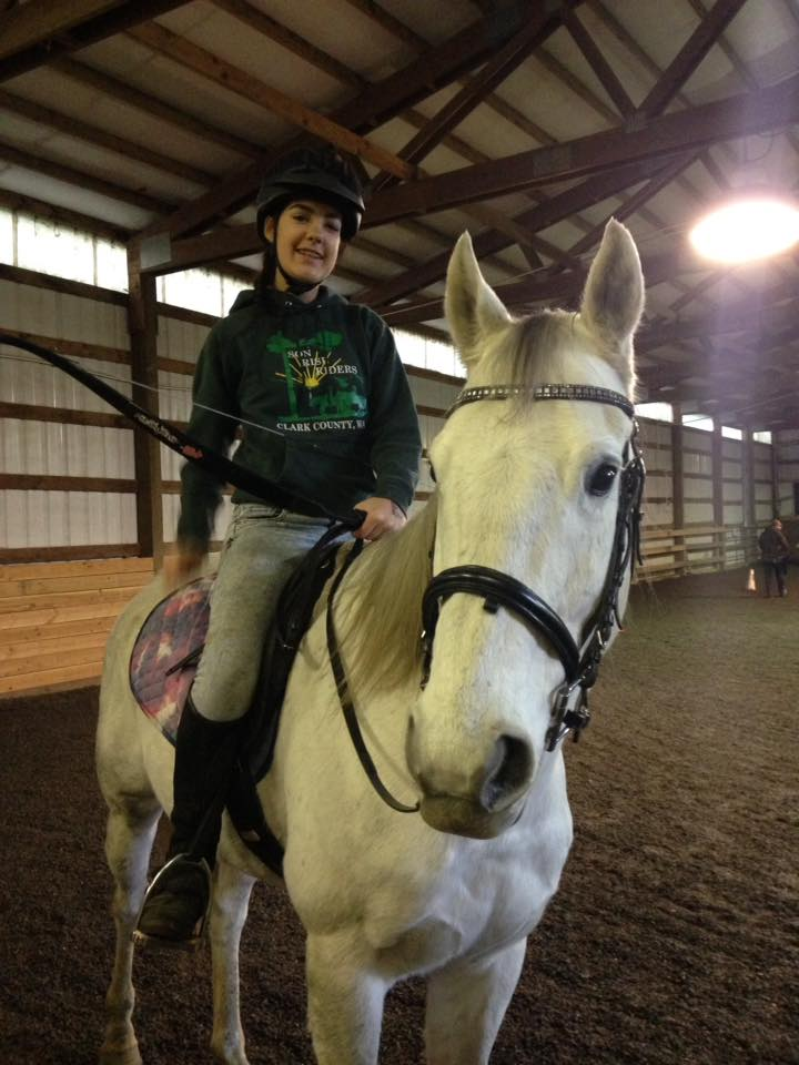 KElly Ann and her thoroughbred, Patriot