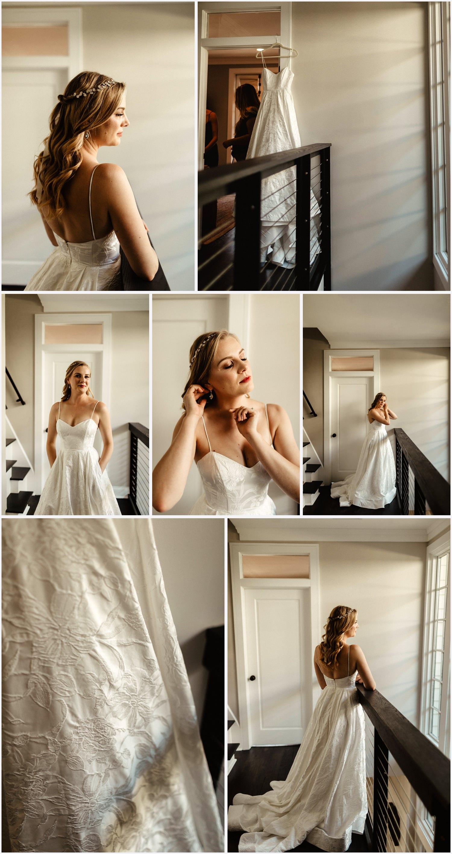 Bride getting ready in Seaside, FL