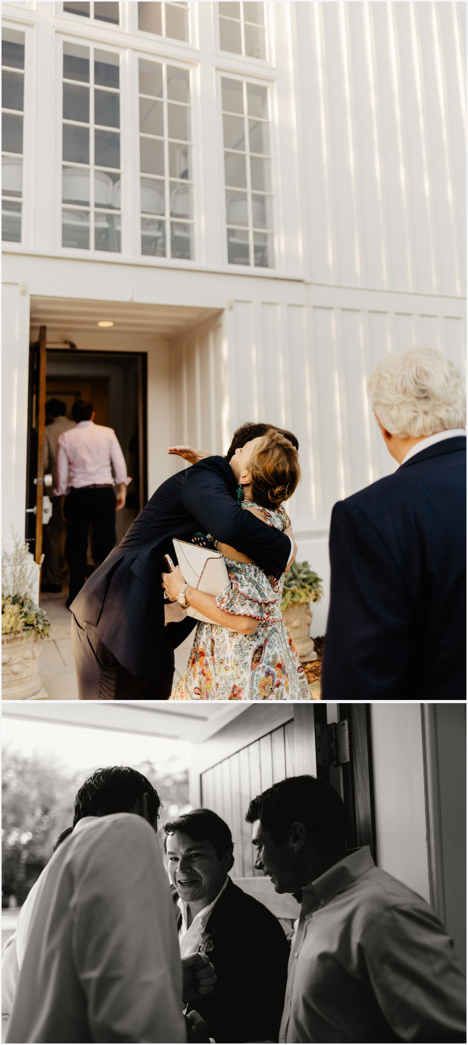Guests arriving to the Seaside Chapel wedding