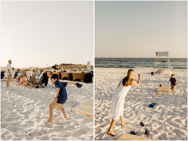 Wedding weekend dinner at the beach in Seaside, FL