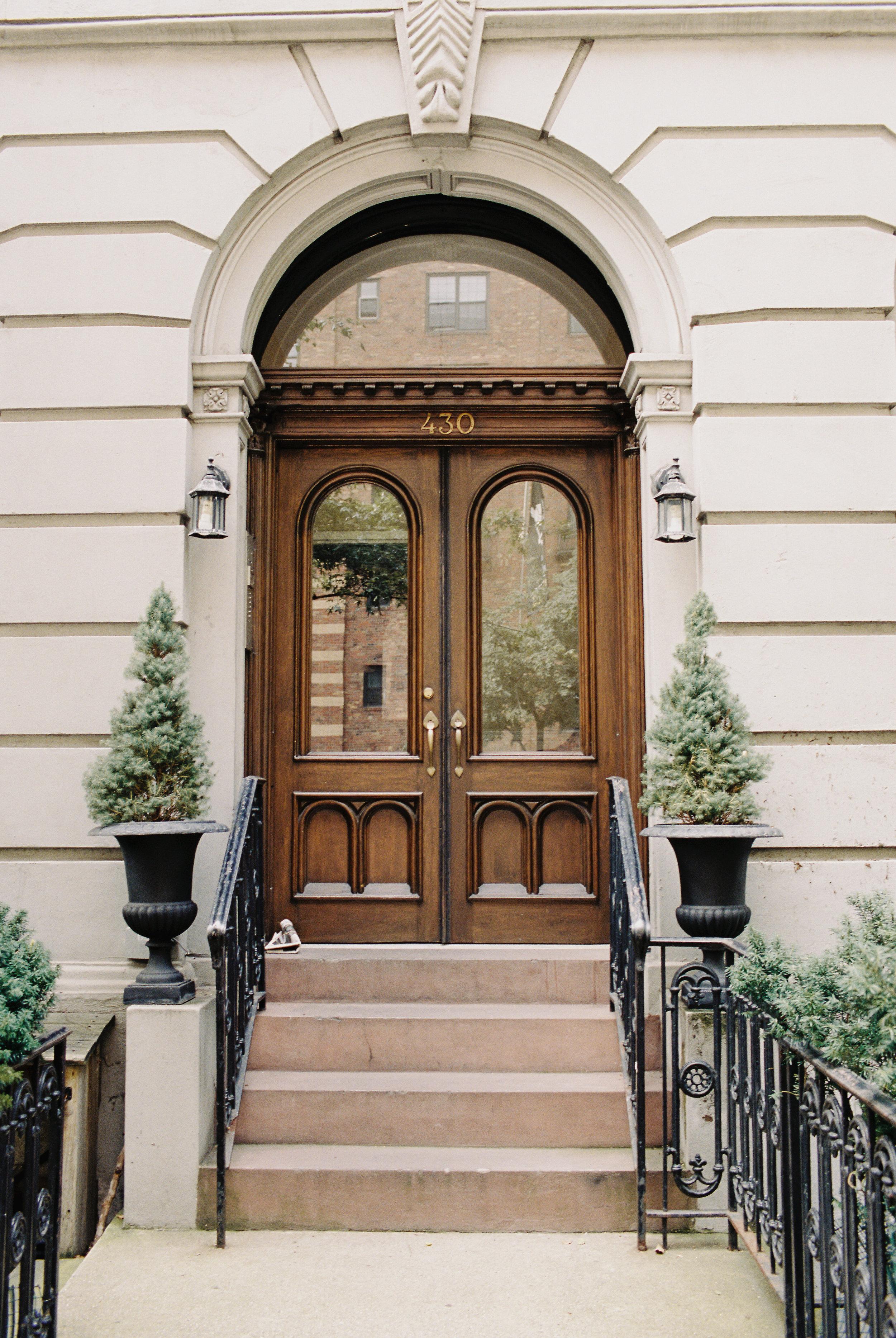 Front door in Manhattan, New York