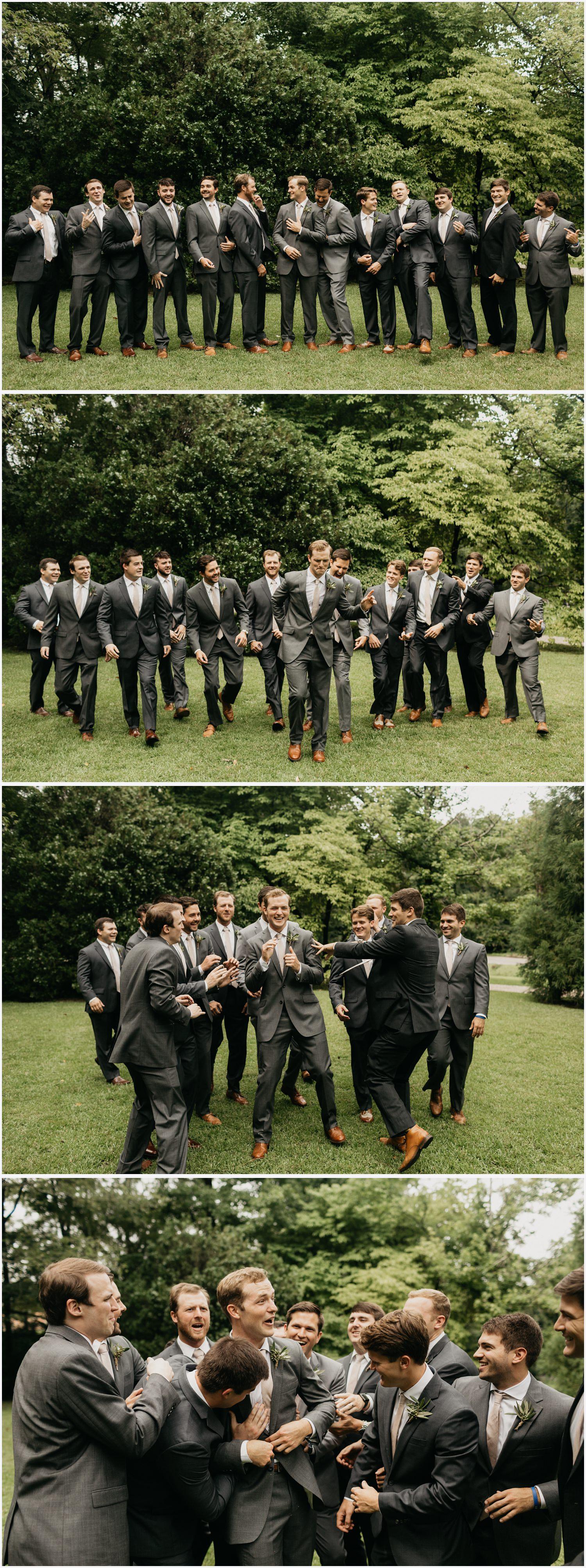Wedding party photos at the Gabrella Manor