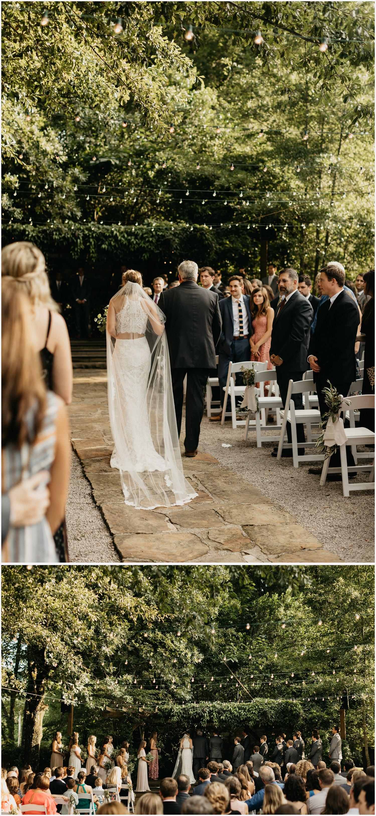 Wedding ceremony at the Gabrella Manor