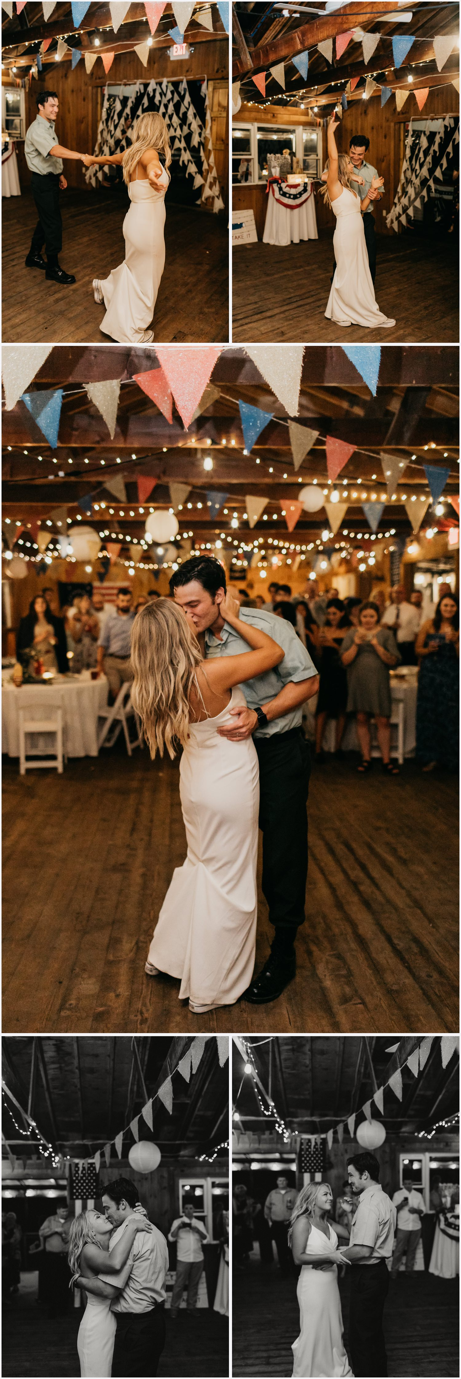 Bride and groom's first dance at the Chequessett Yacht & Country Club