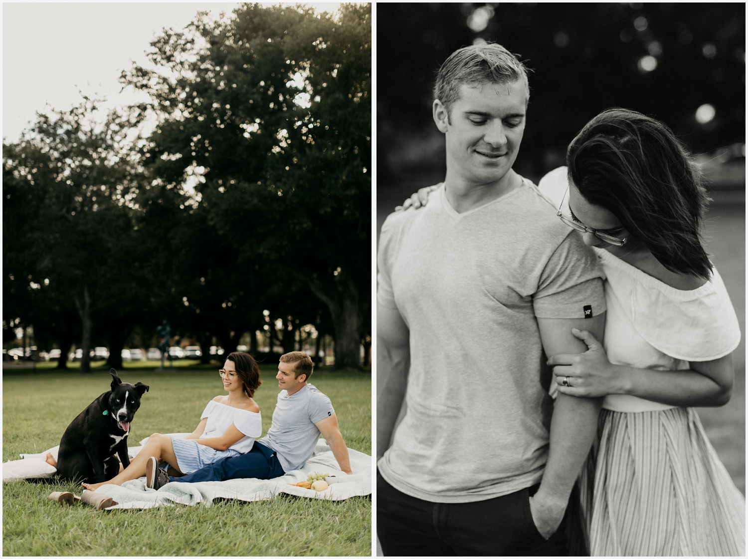 Couple having a picnic at the Bartram Park in Pensacola