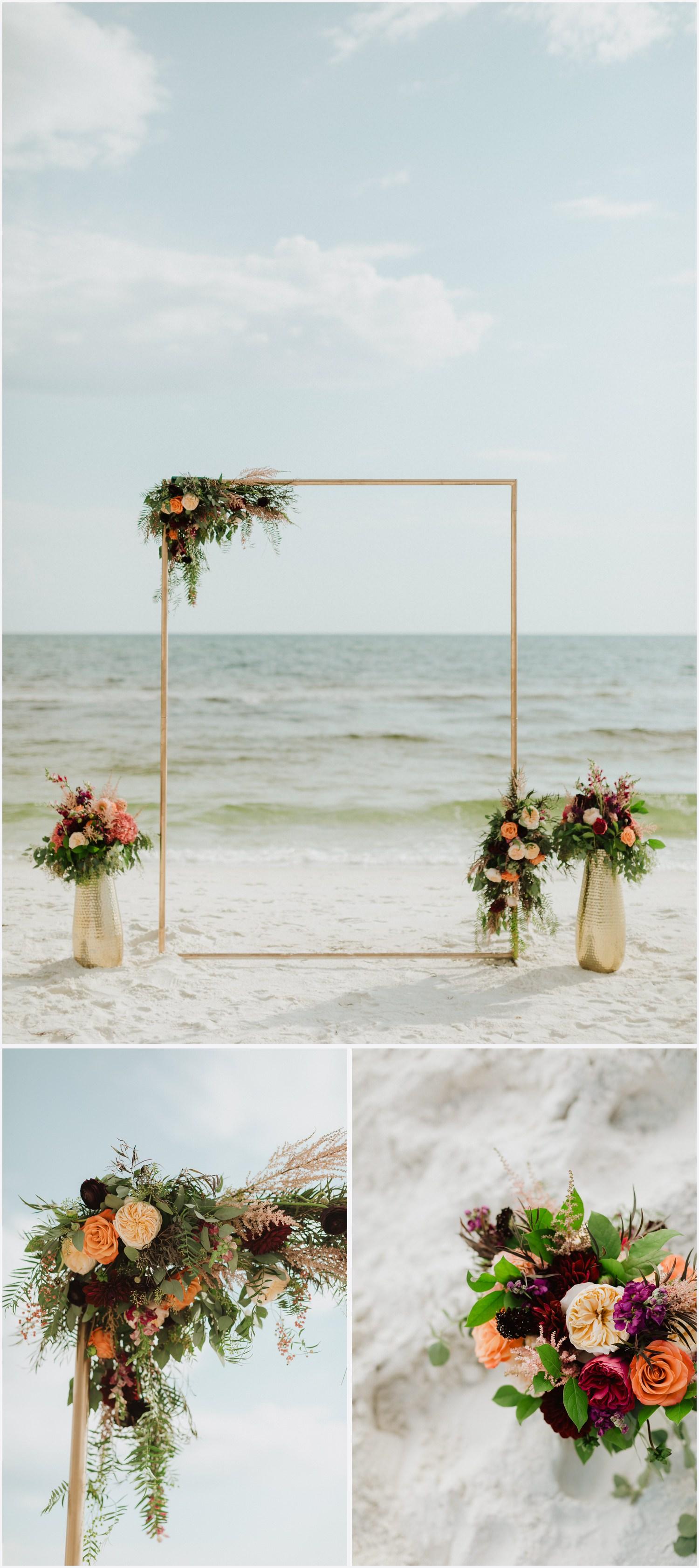 Ceremony decor at a Rosemary Beach wedding