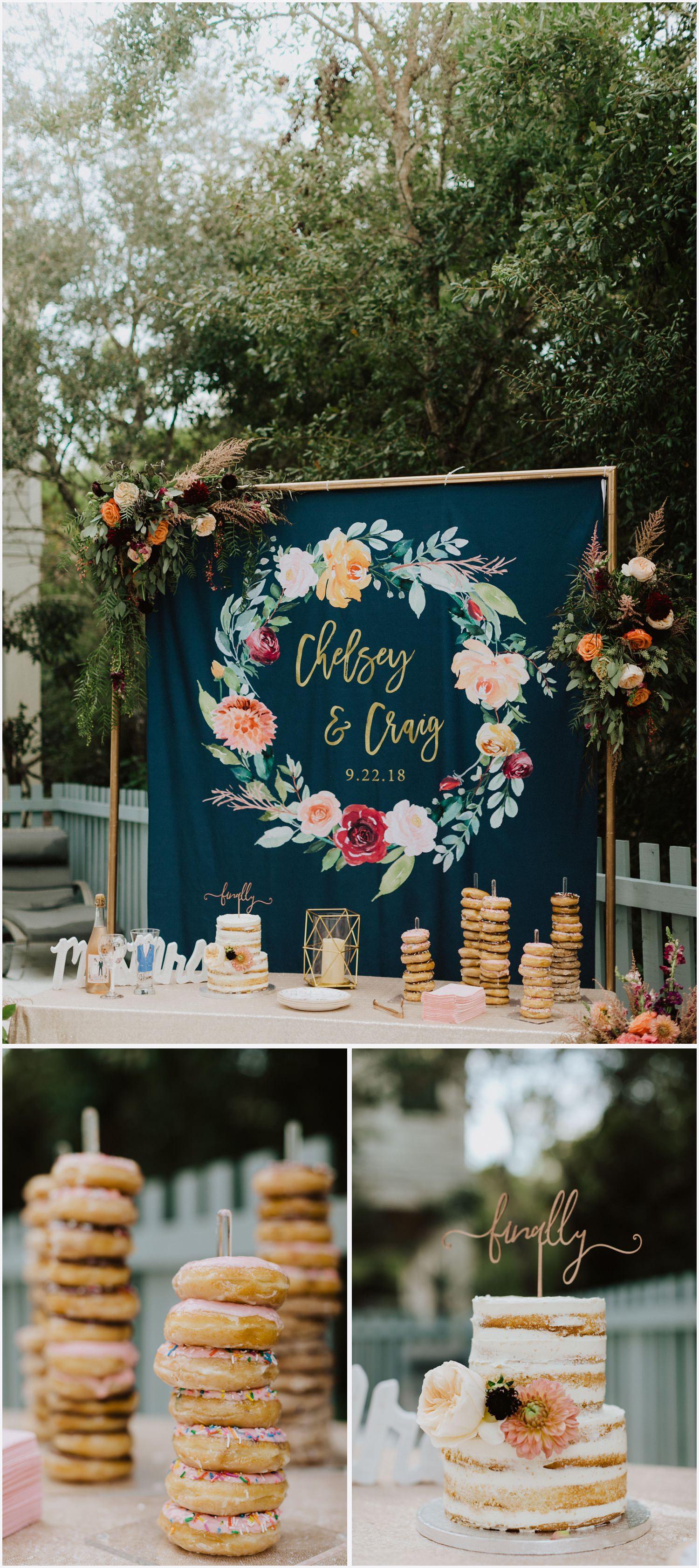 Wedding reception decor at a Rosemary Beach house