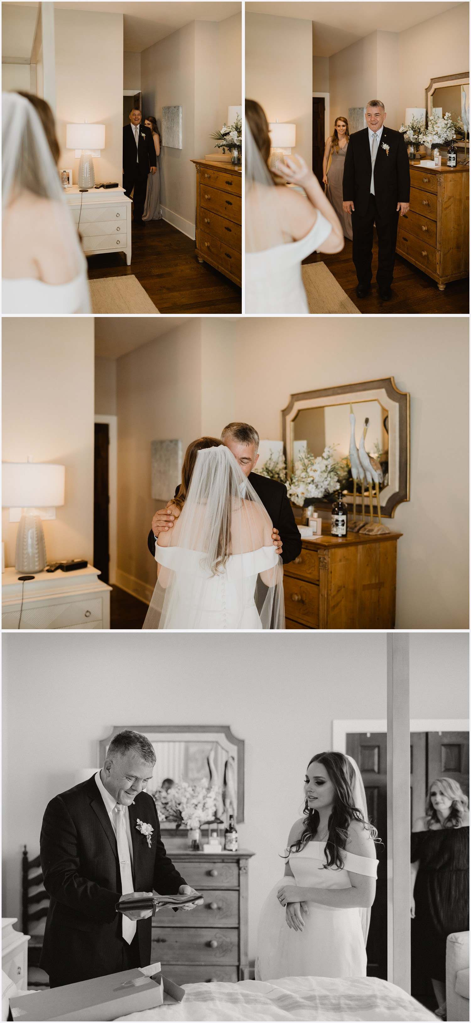 Bride and Father's First Look
