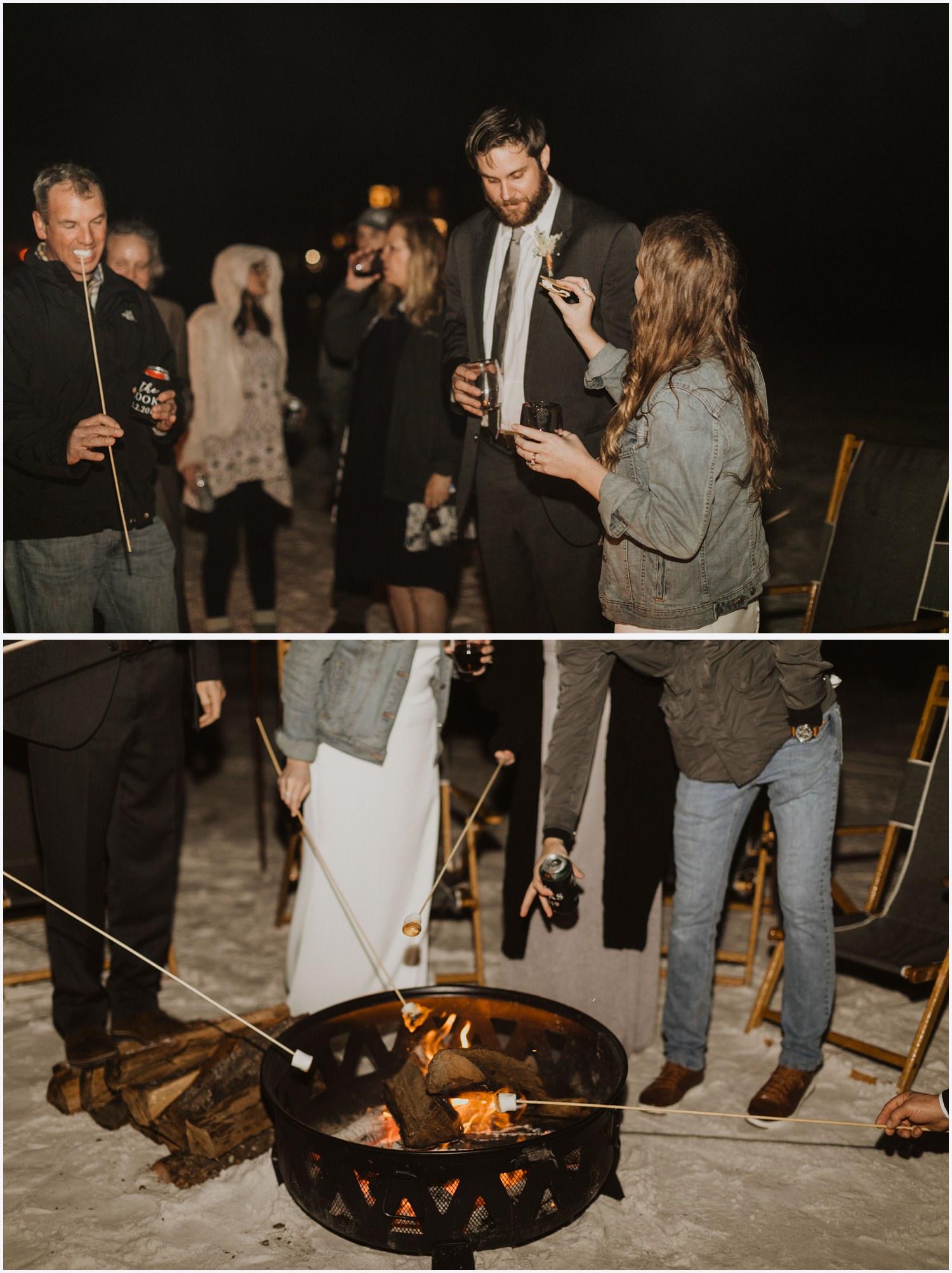Grayton Beach Catering Wedding Bonfire