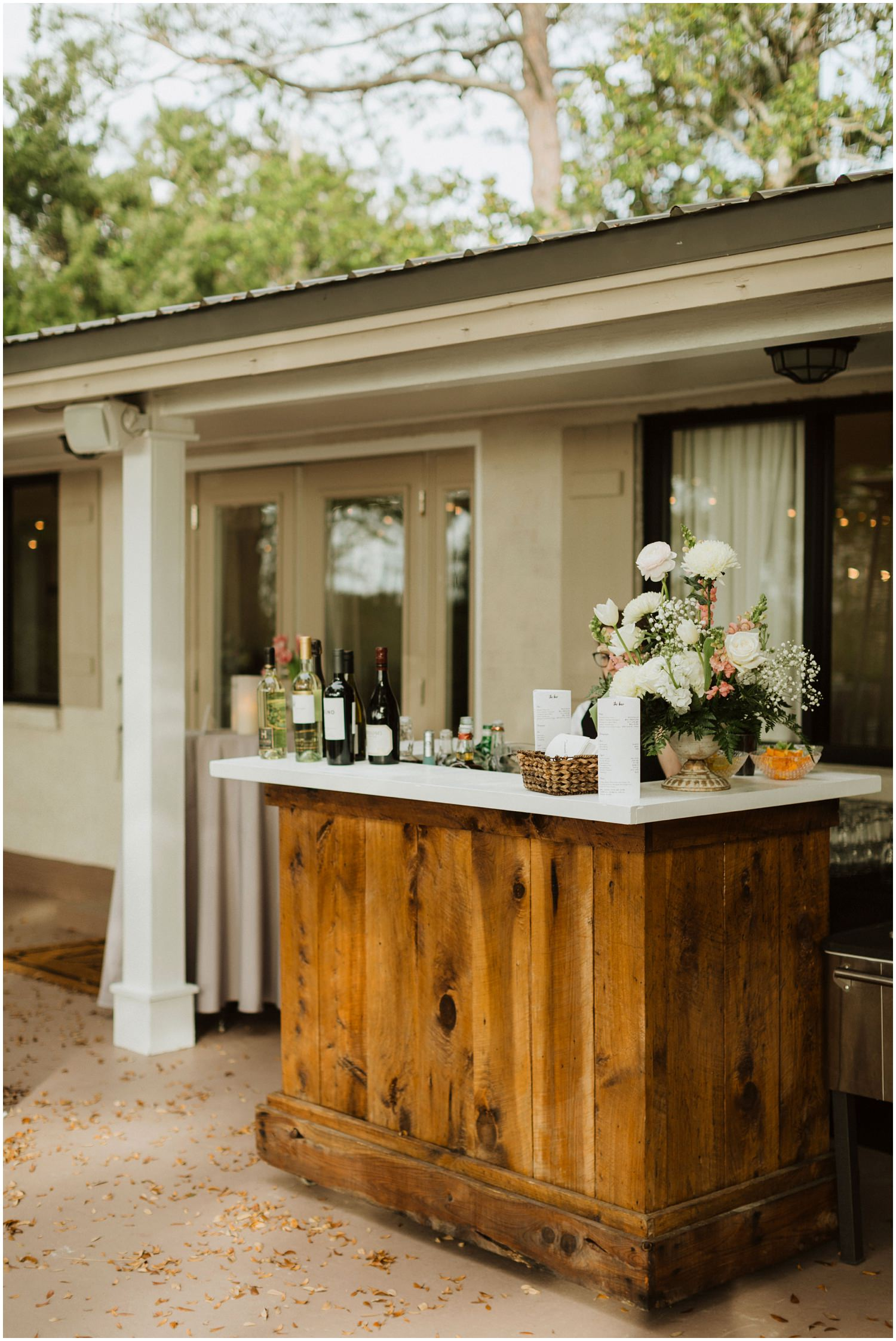 Bar Setup Destin Bay House Wedding