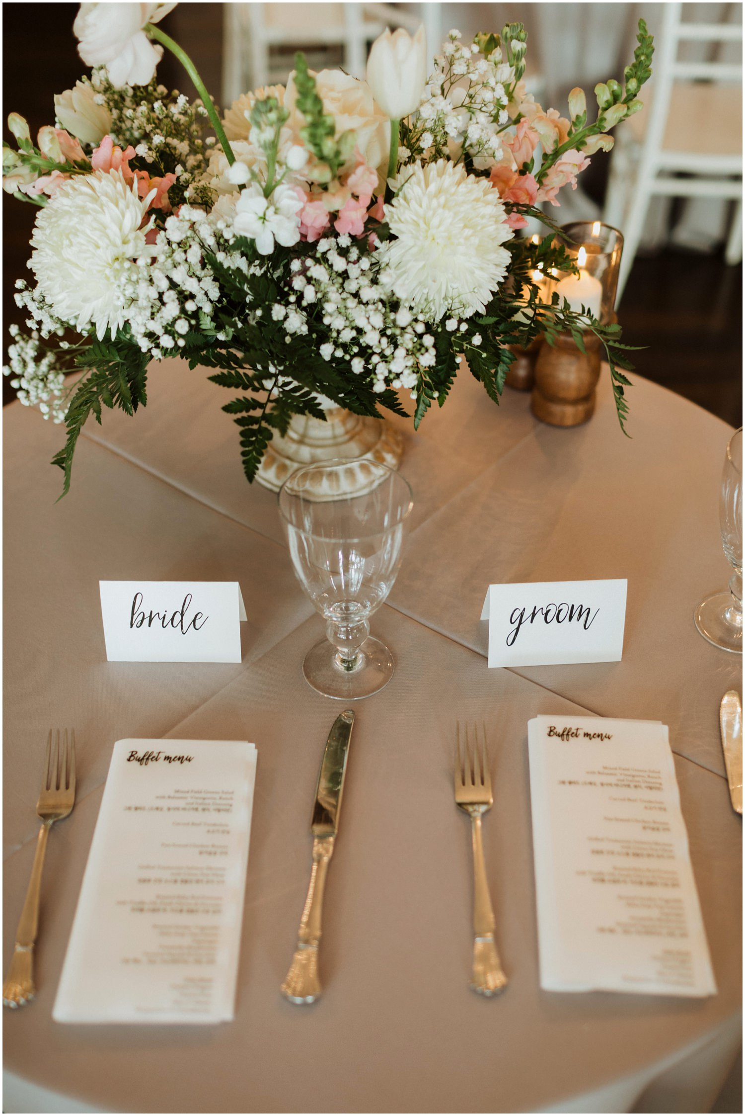 Table Decor Destin Bay House Wedding