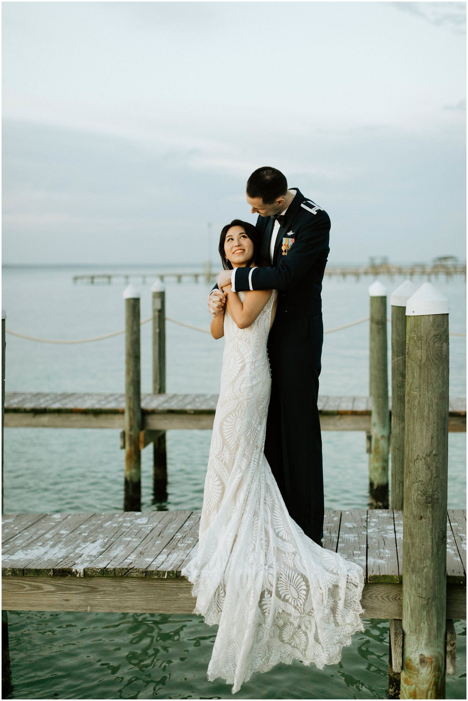 Bride and Groom Portraits Destin Bay House Wedding