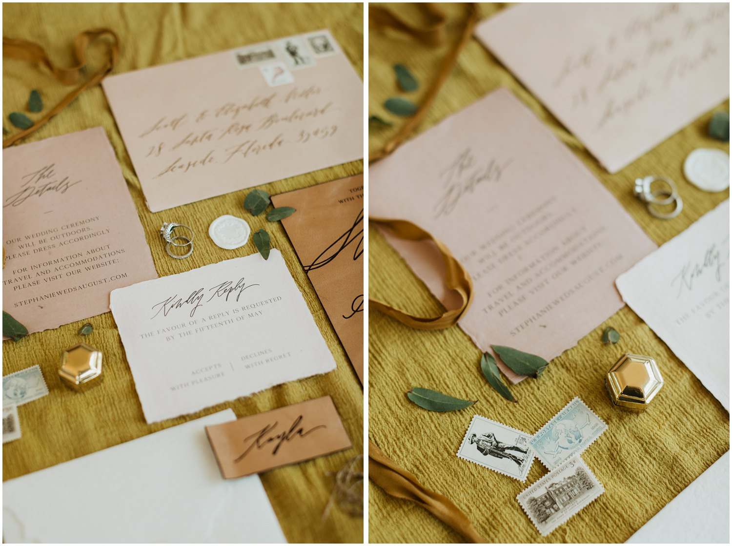 Invitation Suite at 5eleven Palafox Wedding