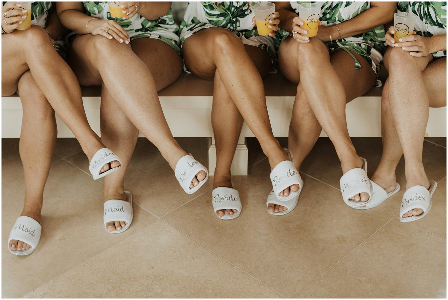 Bridesmaids Bud and Alley's Seaside Wedding