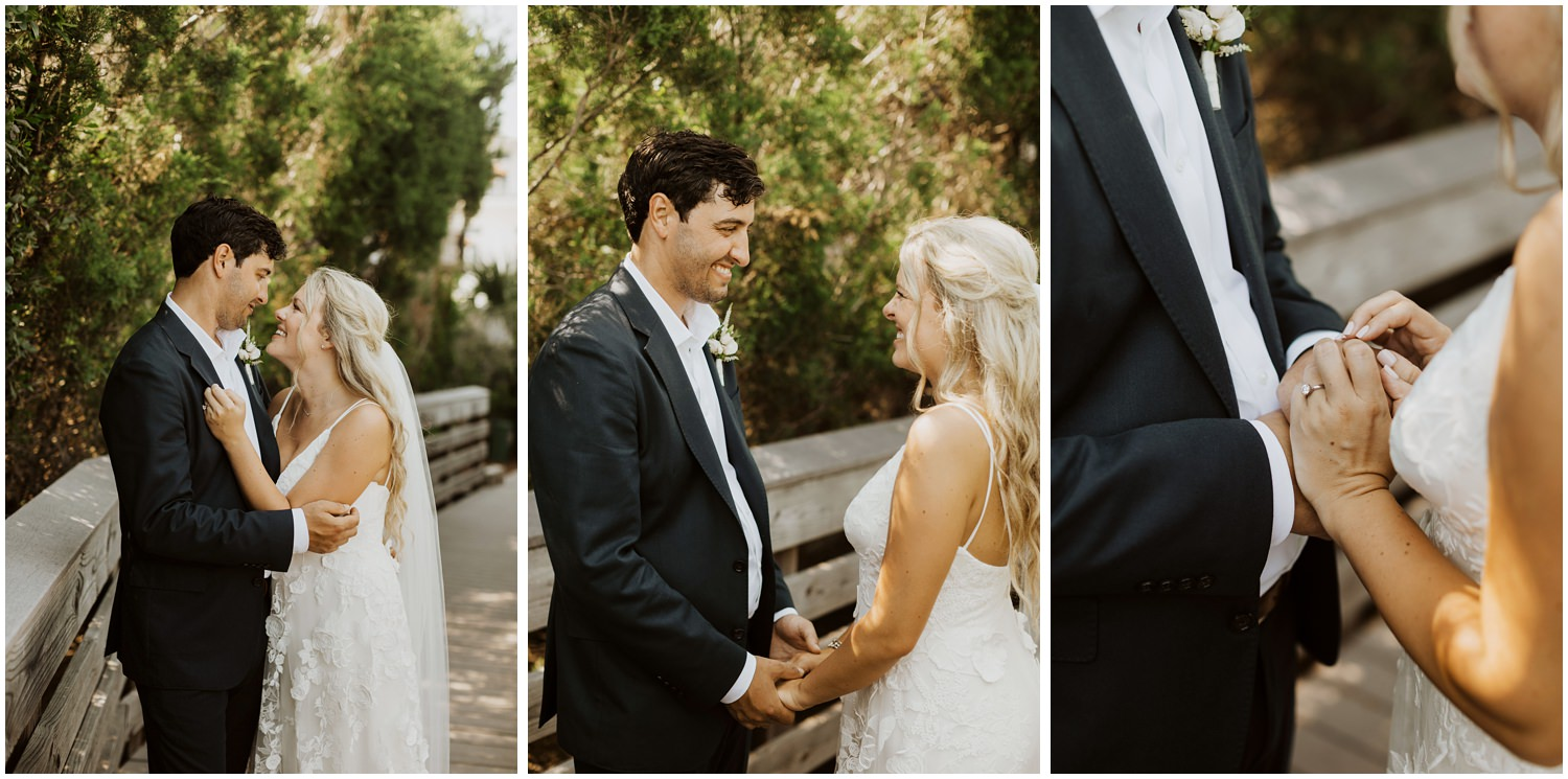 First Look Bud and Alley's Seaside Wedding